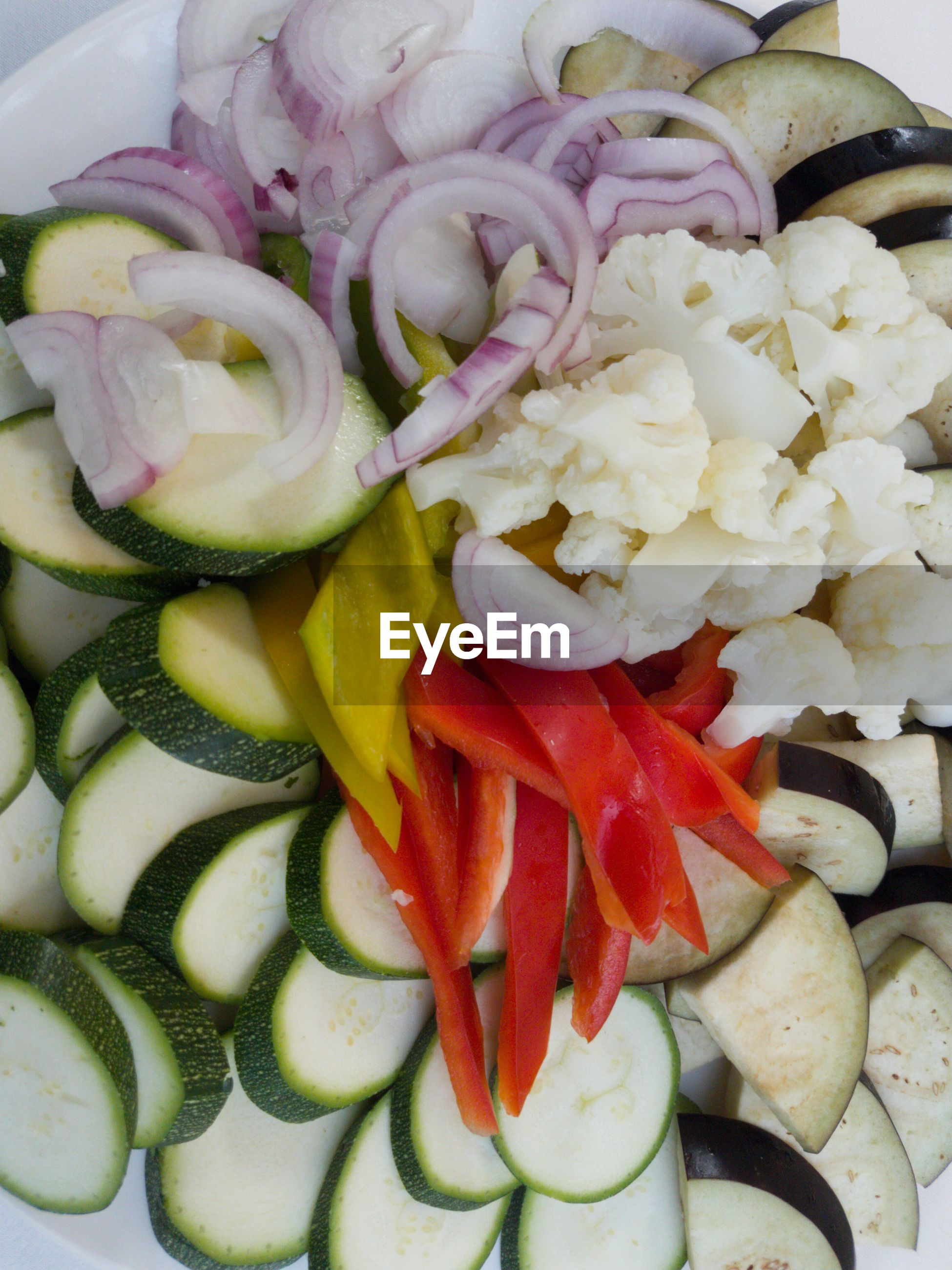 Close-up of fresh sliced food in plate