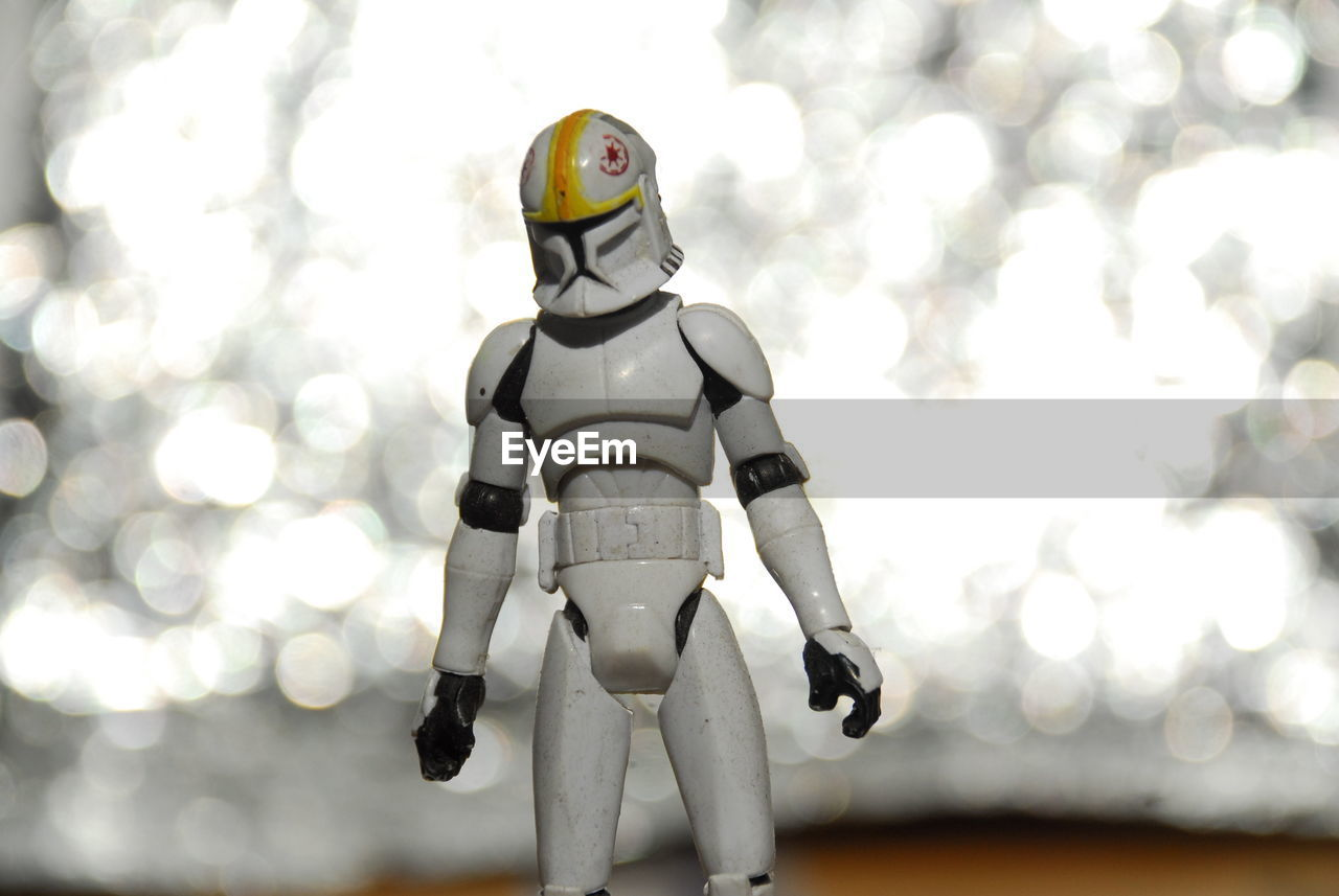 human representation, no people, figurine, outdoors, day, sky, close-up, space suit