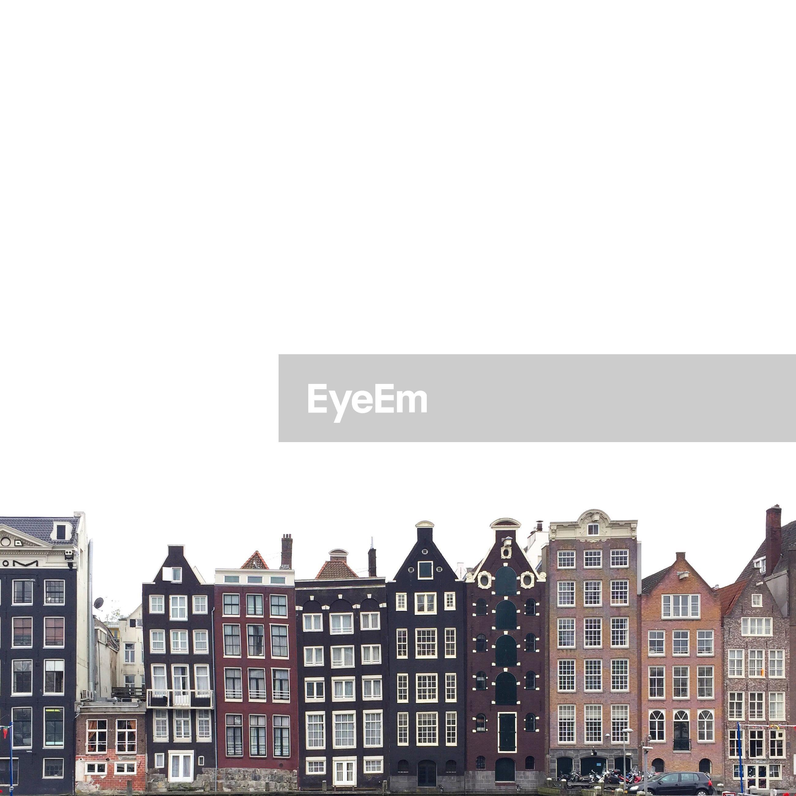Facade of residential apartment skyline