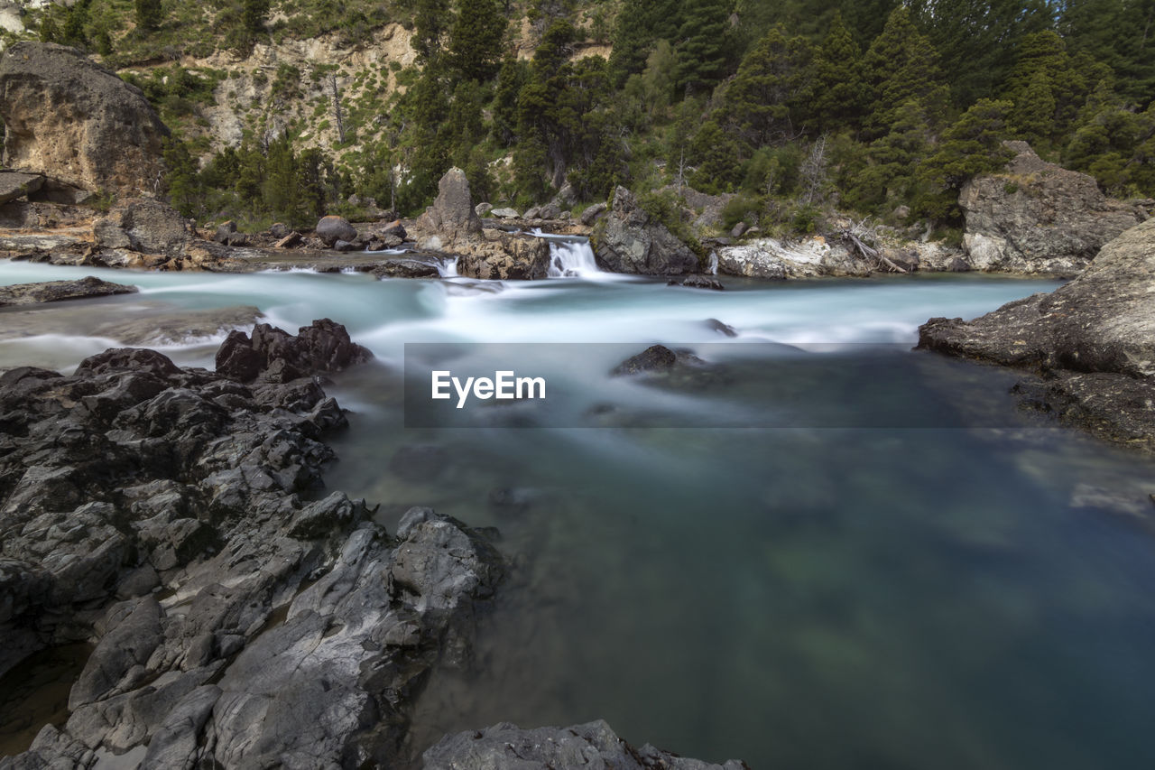water, rock, solid, rock - object, scenics - nature, beauty in nature, nature, long exposure, motion, day, no people, tree, flowing water, tranquility, river, land, blurred motion, plant, flowing, outdoors, stream - flowing water, power in nature