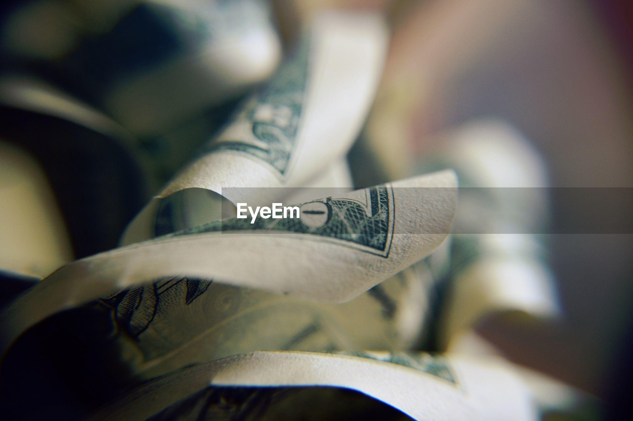 Close-up of banknotes