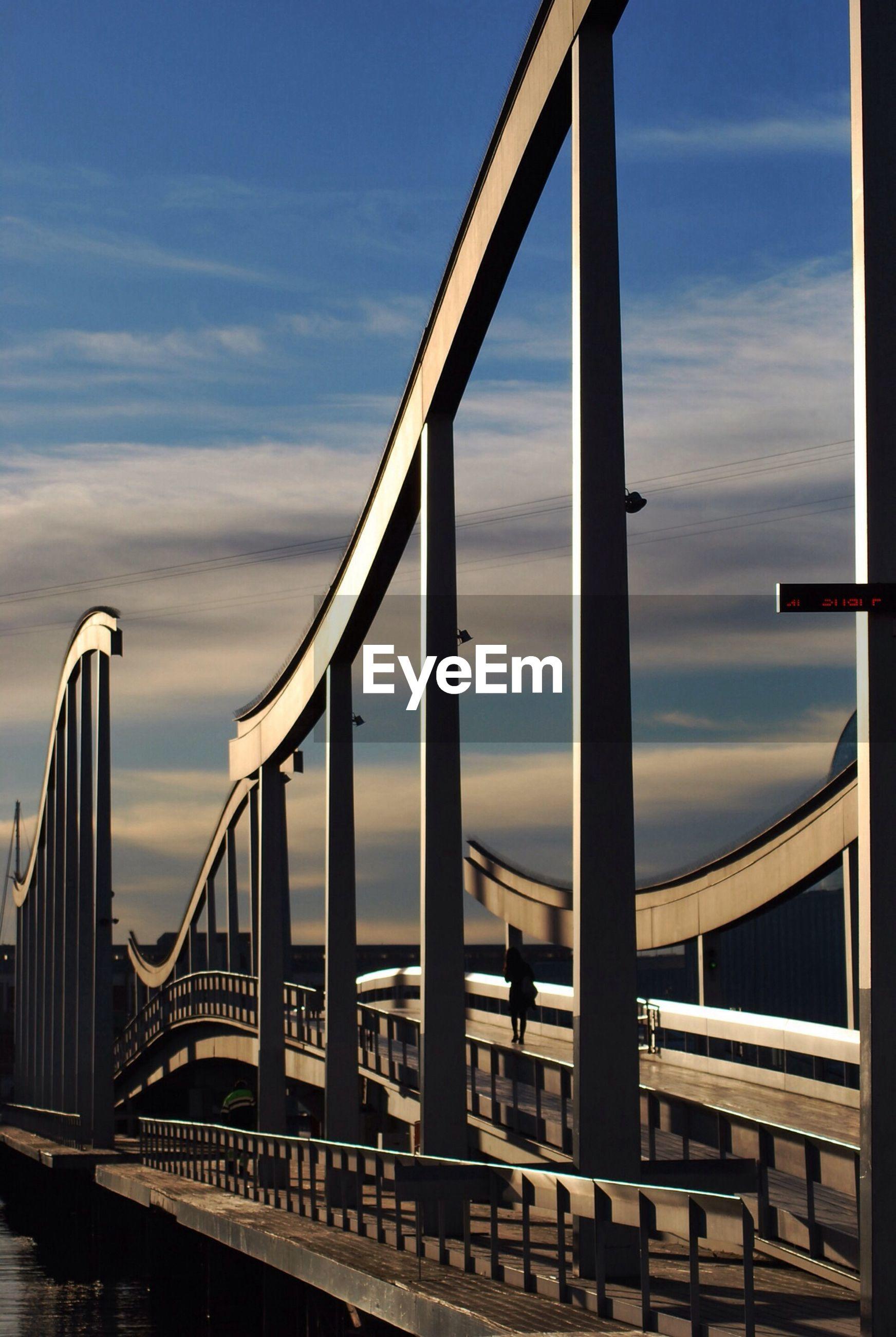 Long bridge against the sky