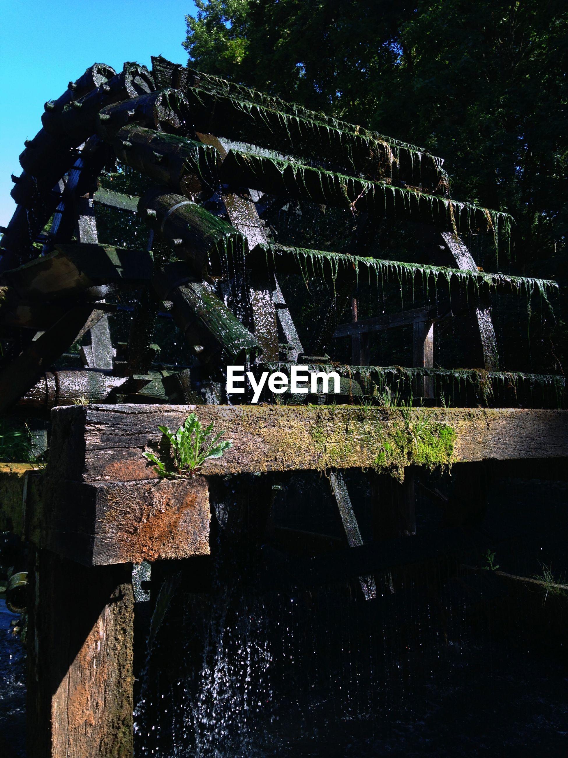 Close-up of irrigation sprinkler