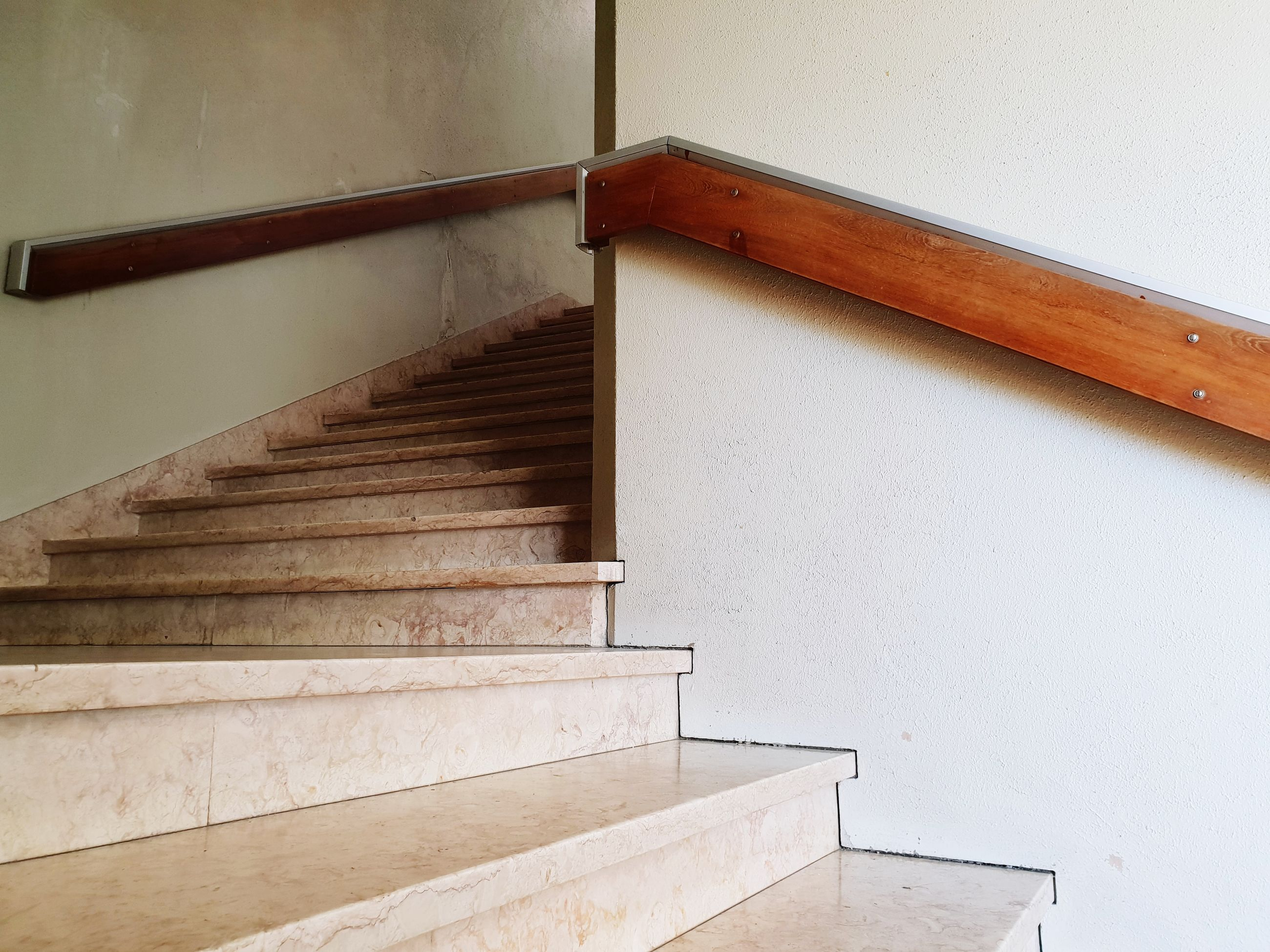 Low angle view of steps in building