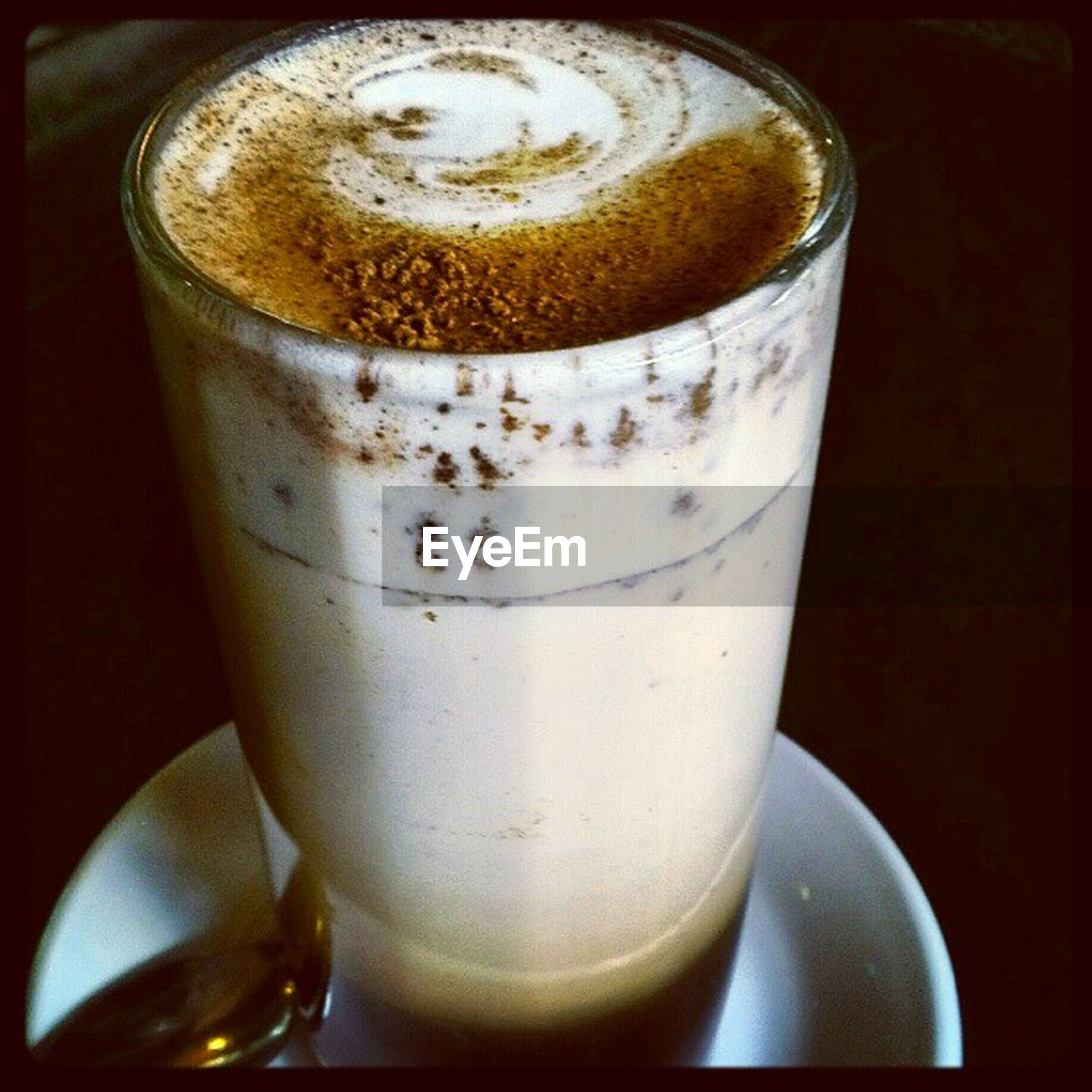 drink, refreshment, food and drink, indoors, close-up, coffee cup, still life, frothy drink, coffee - drink, freshness, table, saucer, coffee, drinking glass, cup, beverage, cappuccino, no people, froth art, glass - material