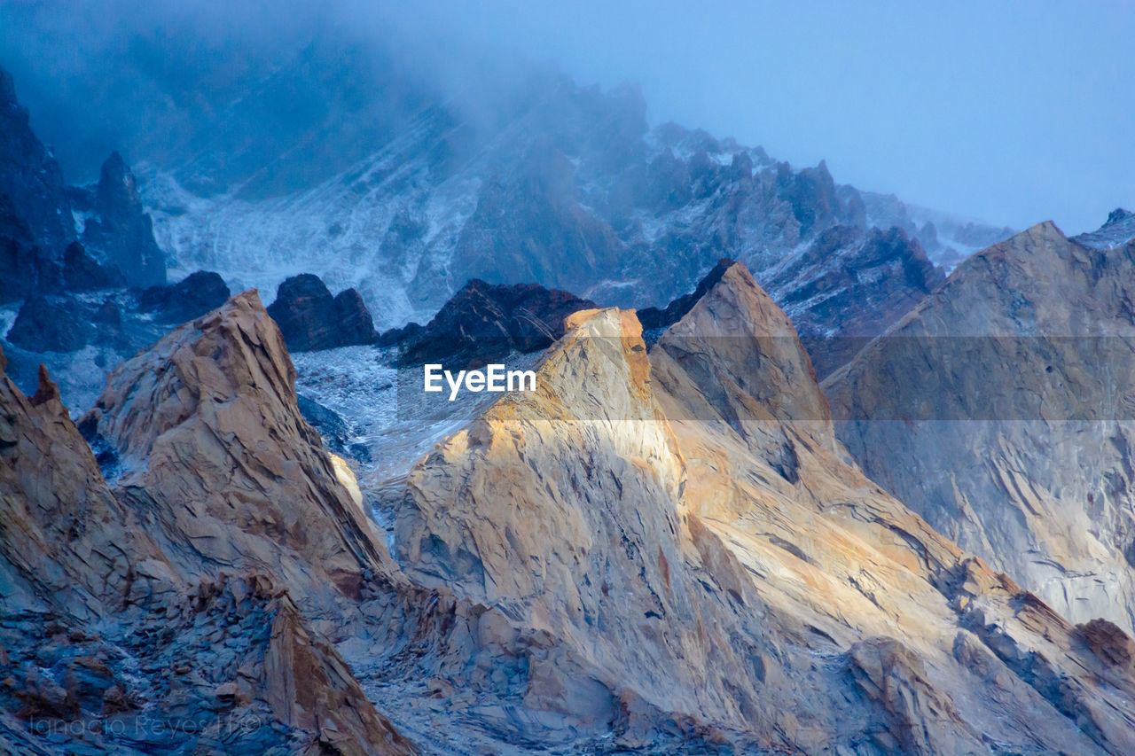 Scenic View Of Mountains At Torres Del Paine National Park