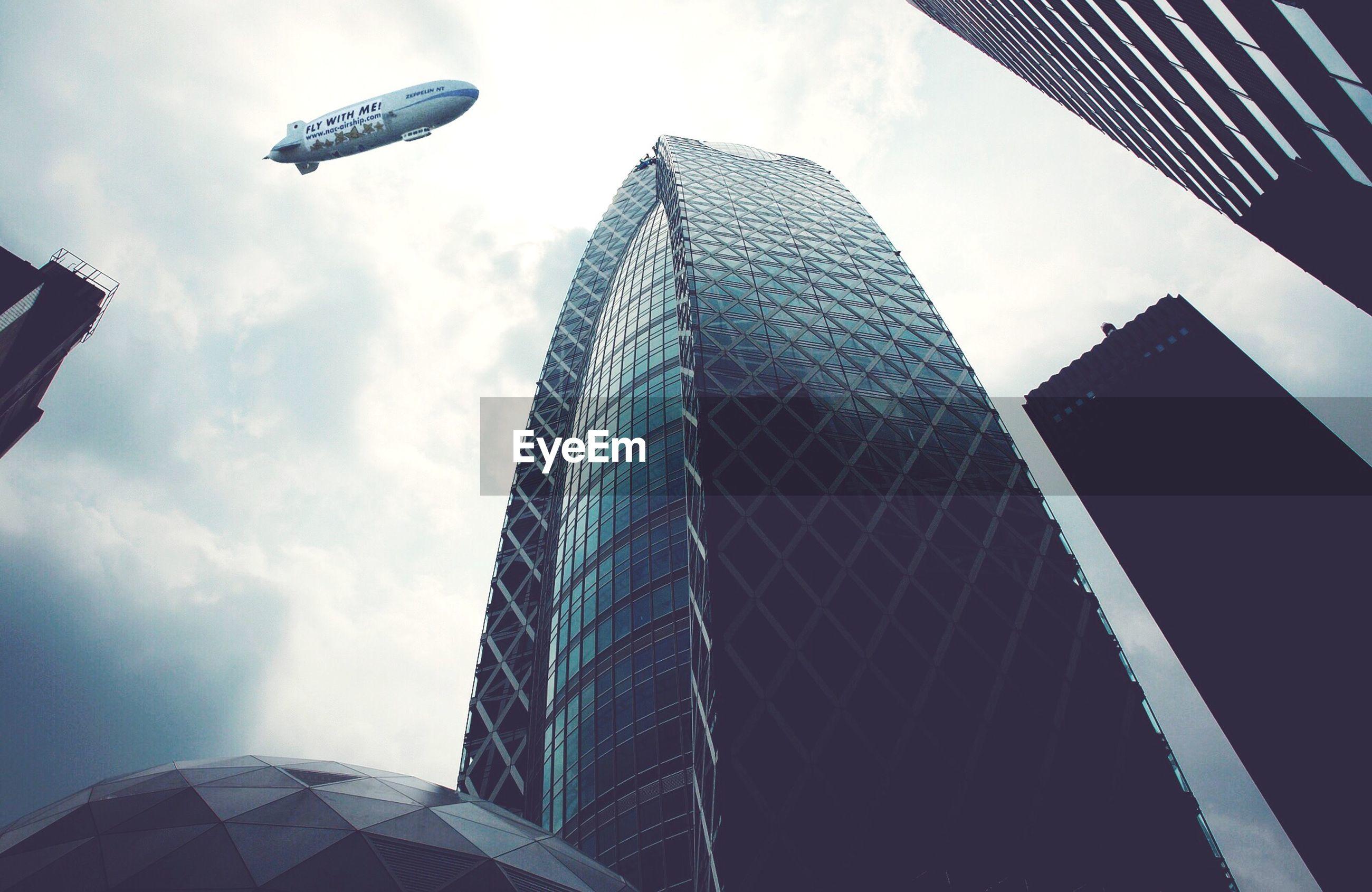 Zeppelin above city