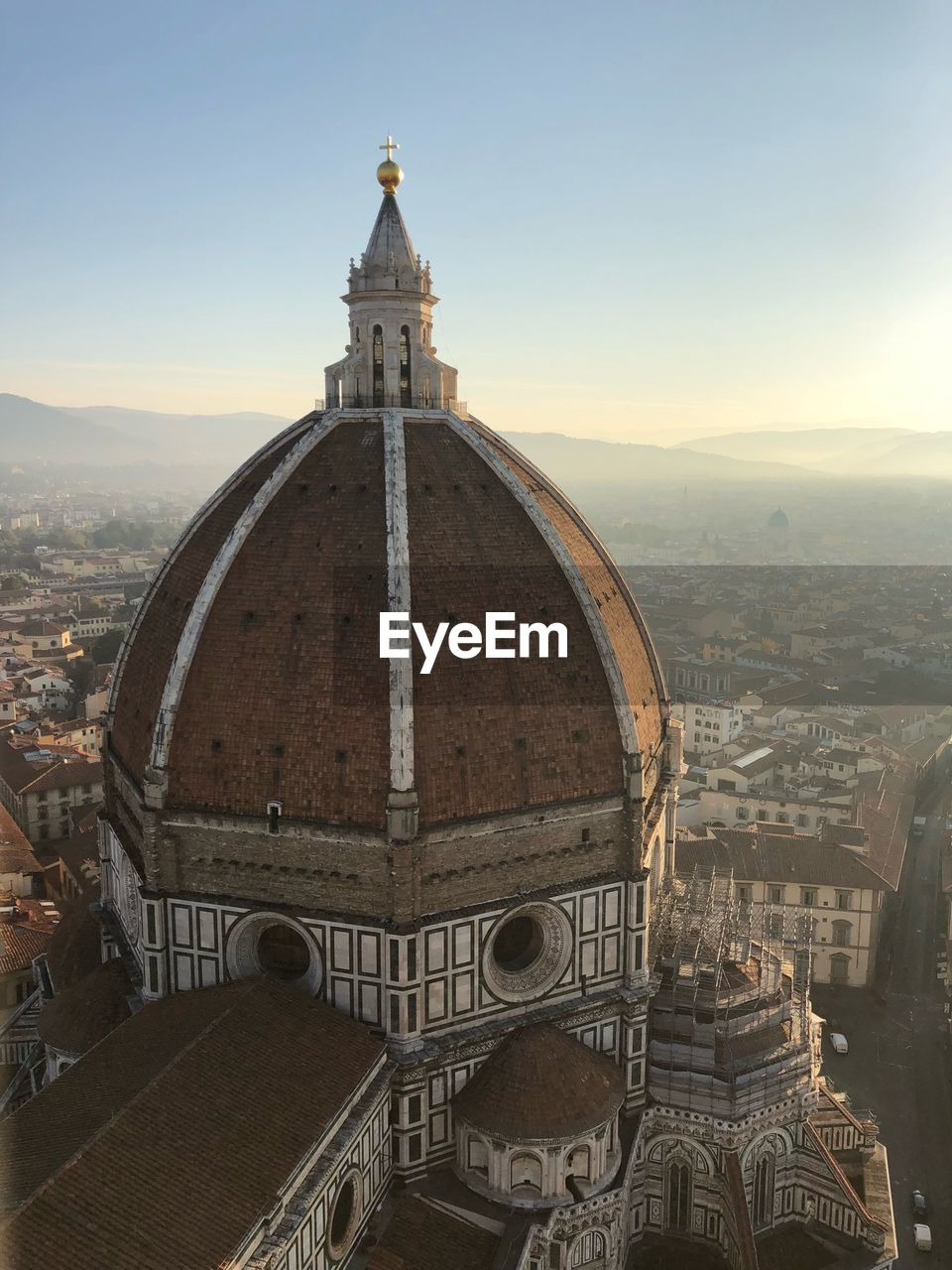 High Angle View Of Florence Cathedral In City