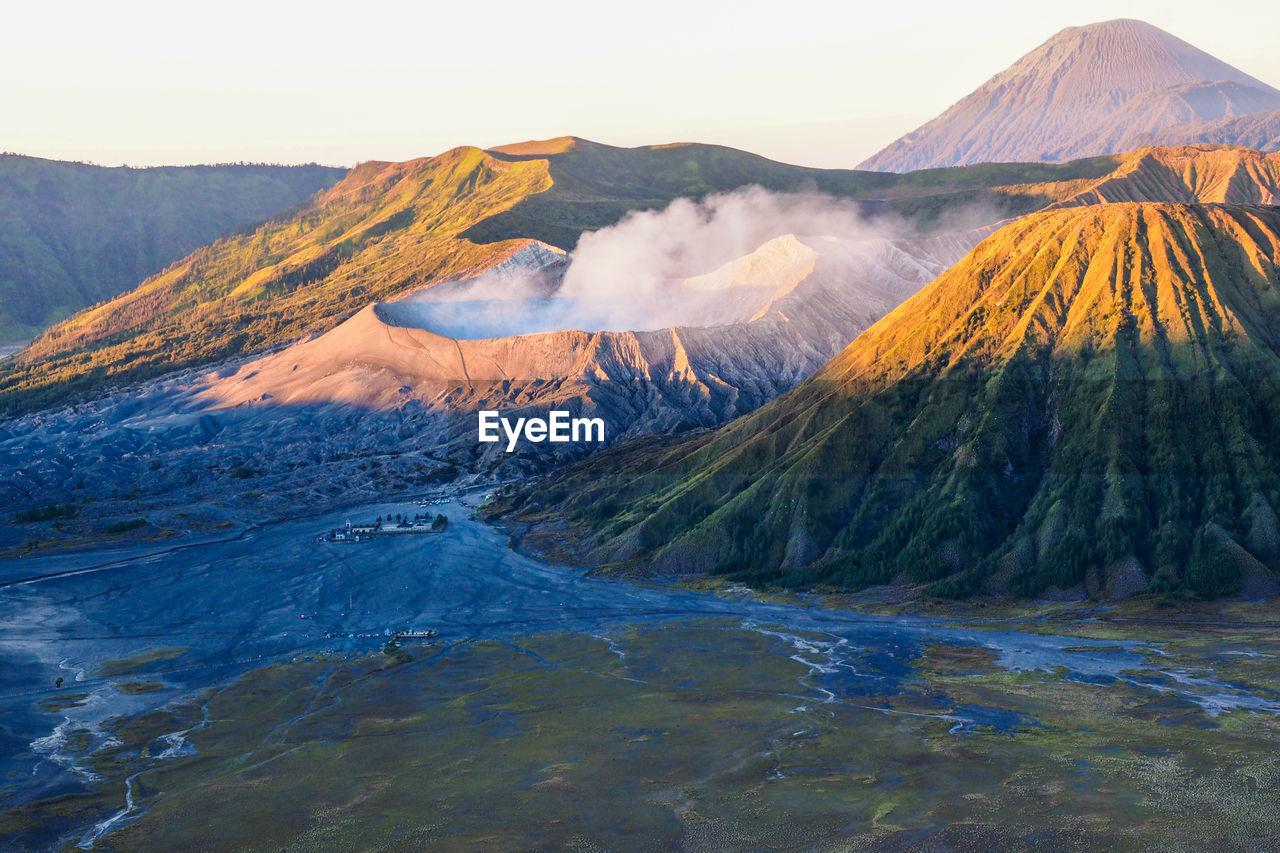 Scenic View Of Volcanoes
