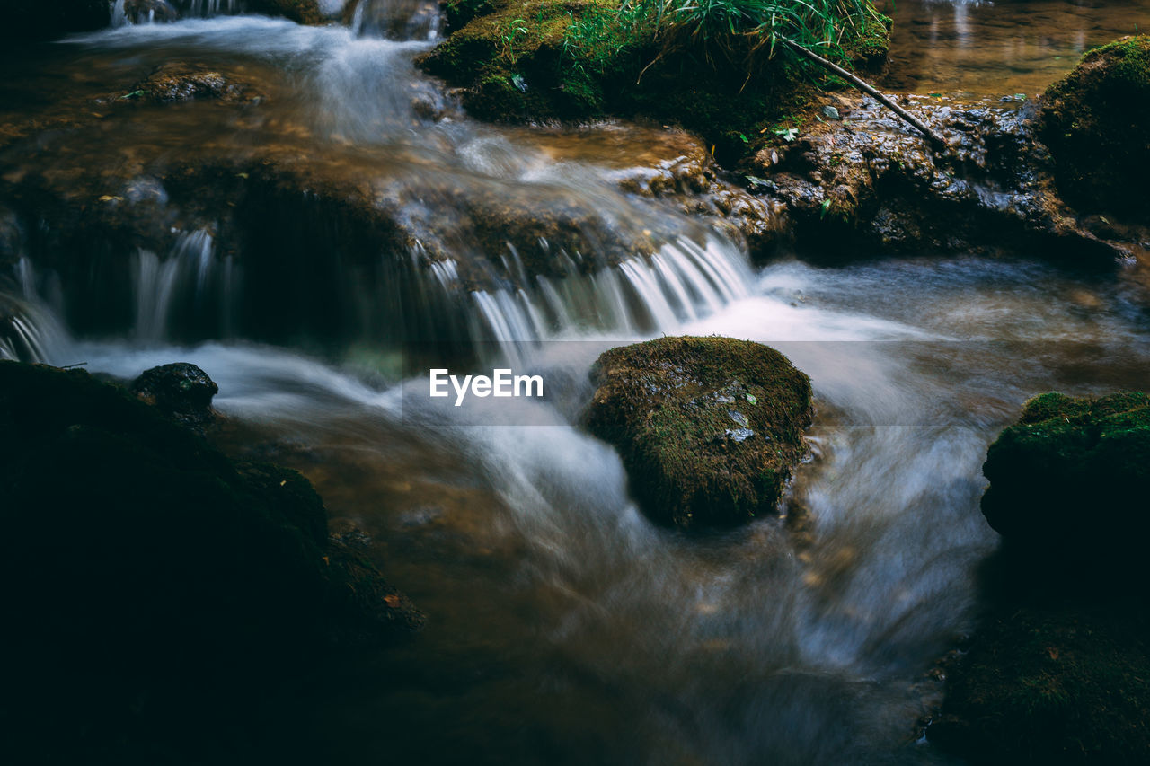 long exposure, motion, waterfall, scenics - nature, flowing water, water, blurred motion, rock, beauty in nature, forest, flowing, no people, rock - object, tree, solid, nature, plant, land, moss, outdoors, power in nature, stream - flowing water, running water, rainforest