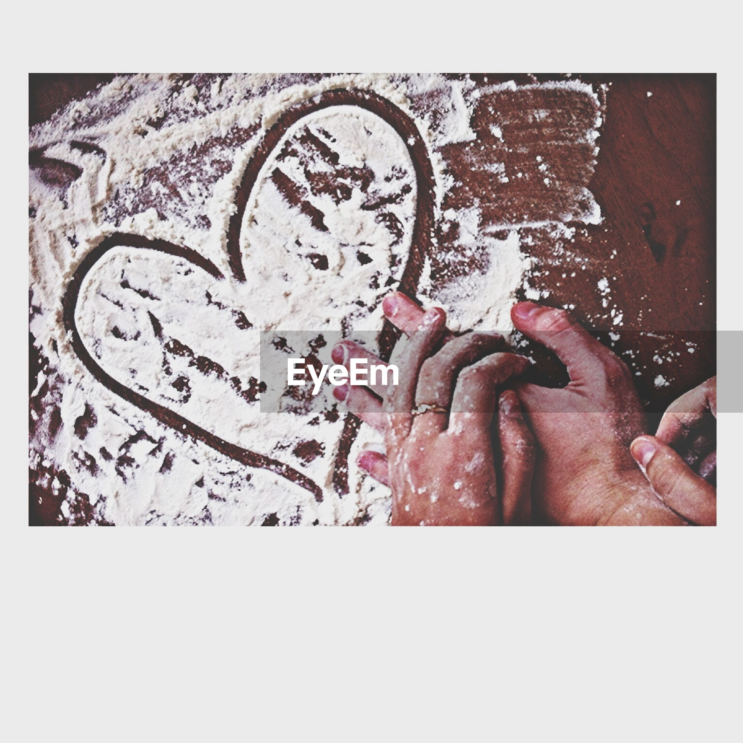 transfer print, auto post production filter, creativity, text, art, art and craft, western script, communication, human representation, person, graffiti, wall - building feature, close-up, heart shape, love, painting