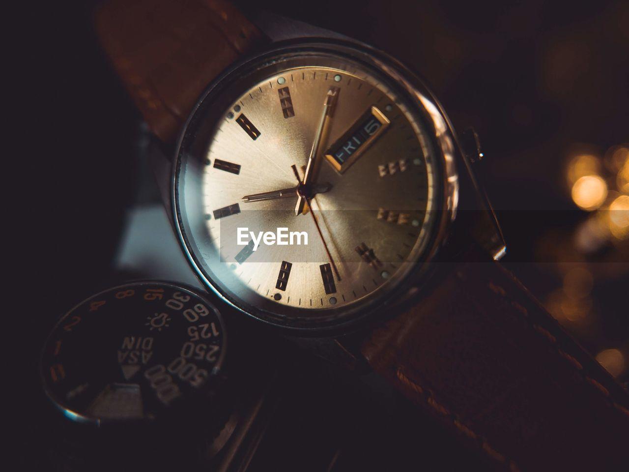 Close-up of wrist watch