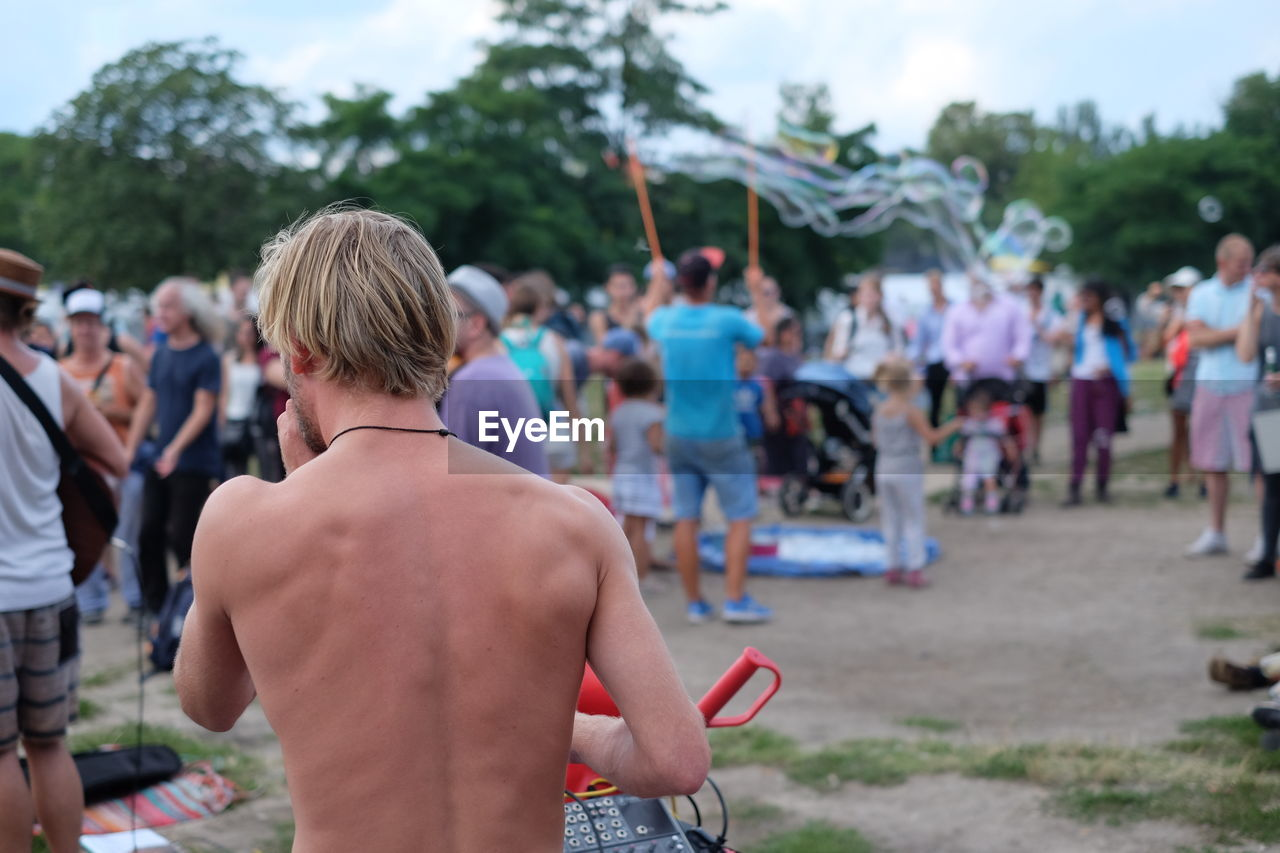 People At Party In Park