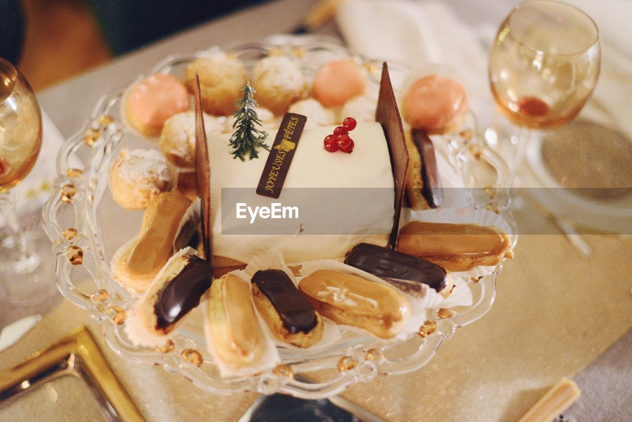 food and drink, food, indoors, freshness, close-up, indulgence, table, sweet food, ready-to-eat, no people, dessert, plate, wineglass, day