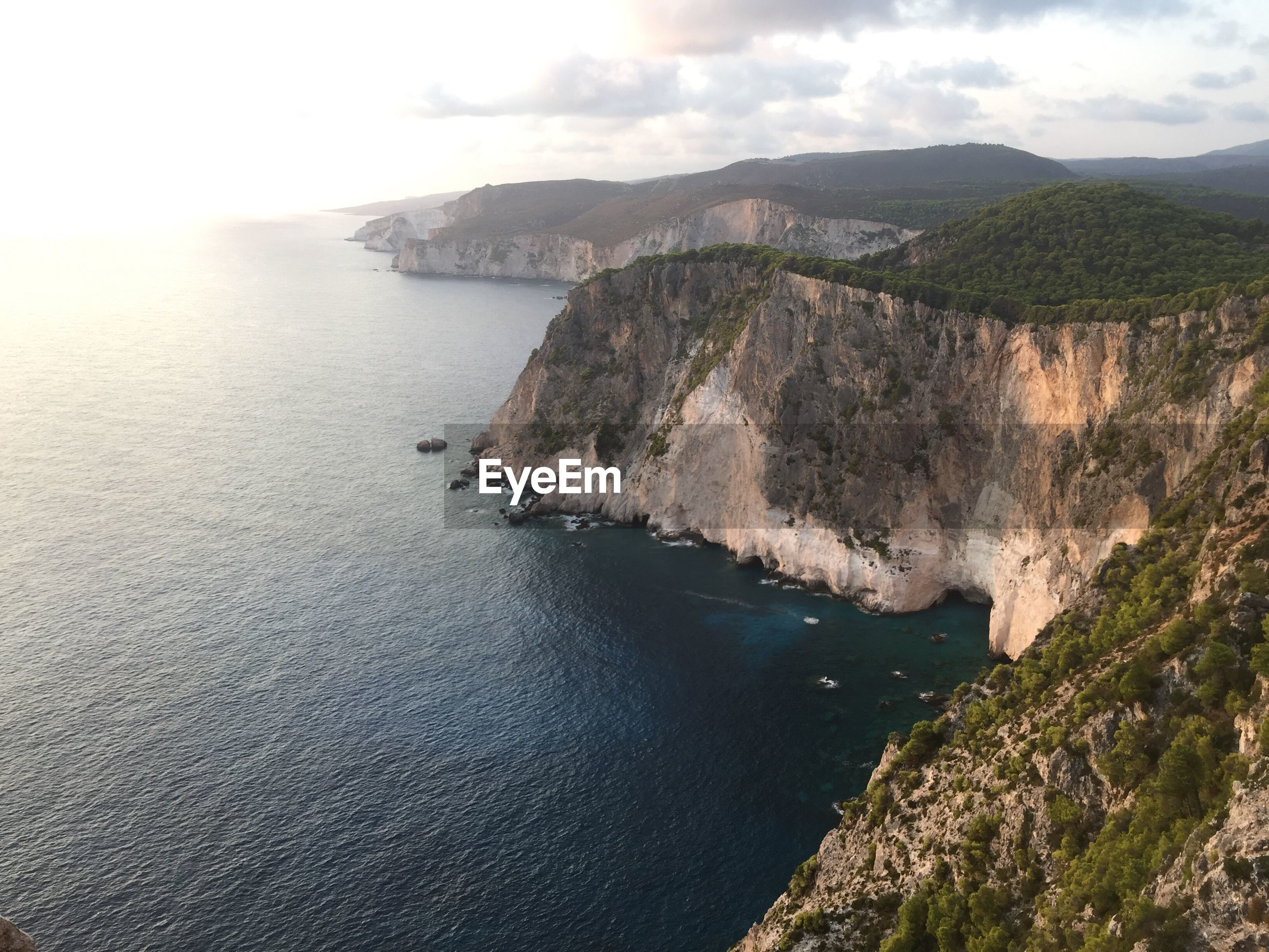 SCENIC VIEW OF SEA AND CLIFFS