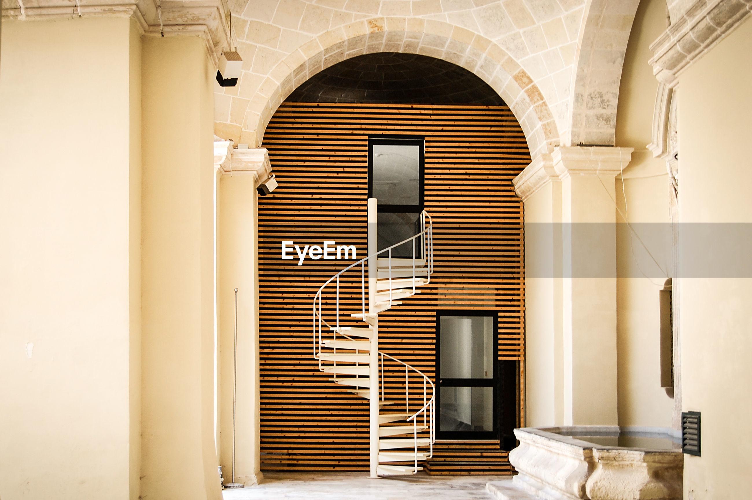 Spiral modern staircase
