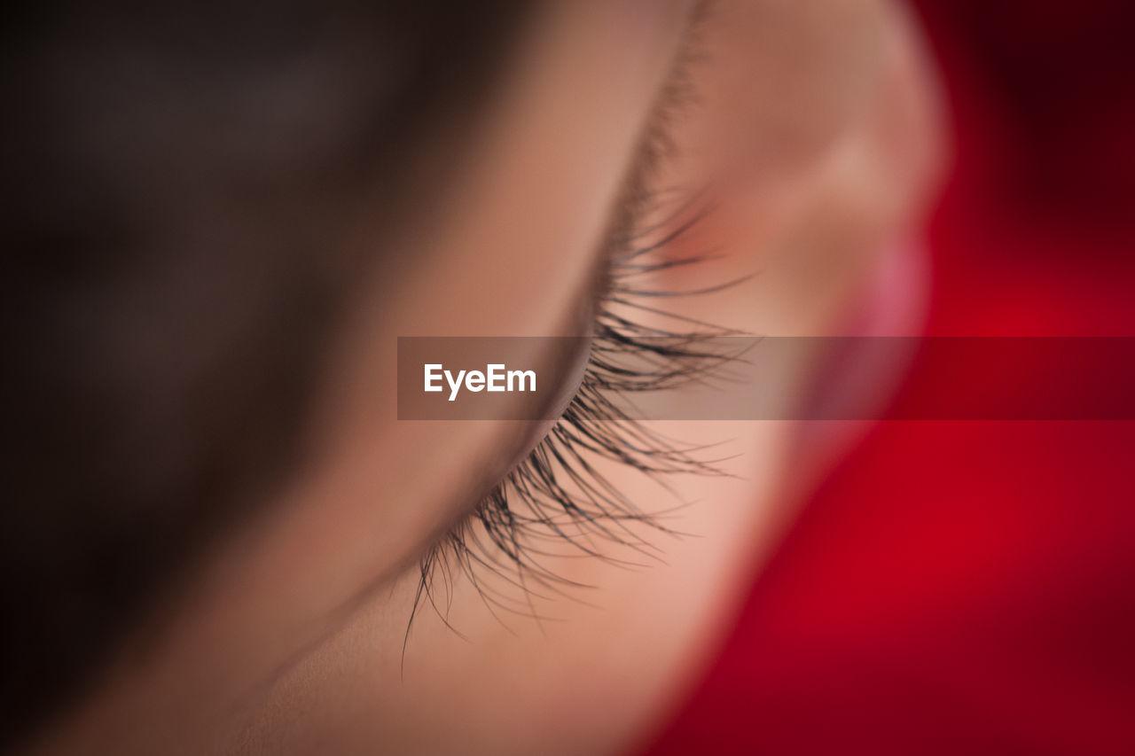 High Angle View Of Boy Eye