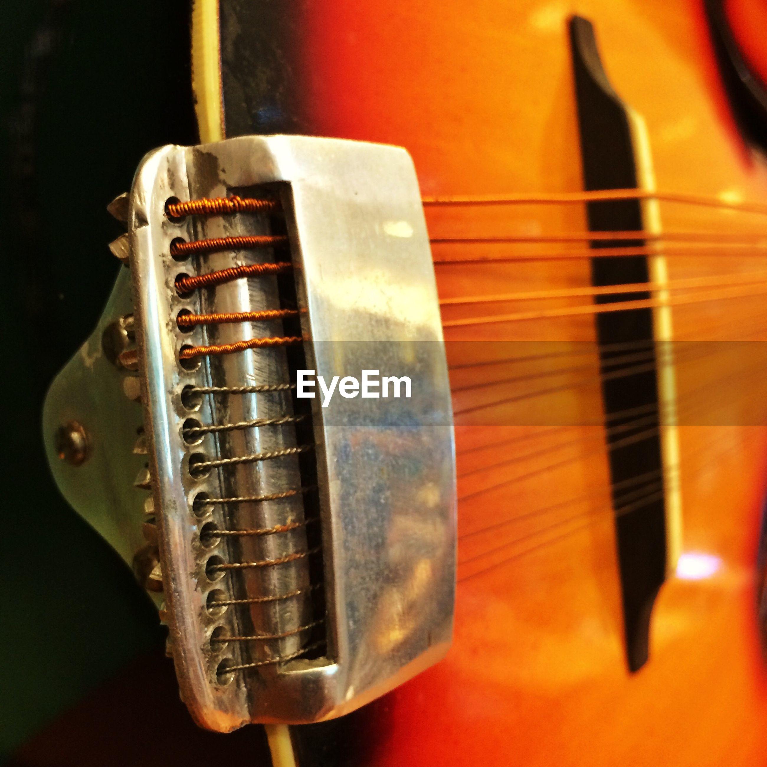 Close-up view of guitar
