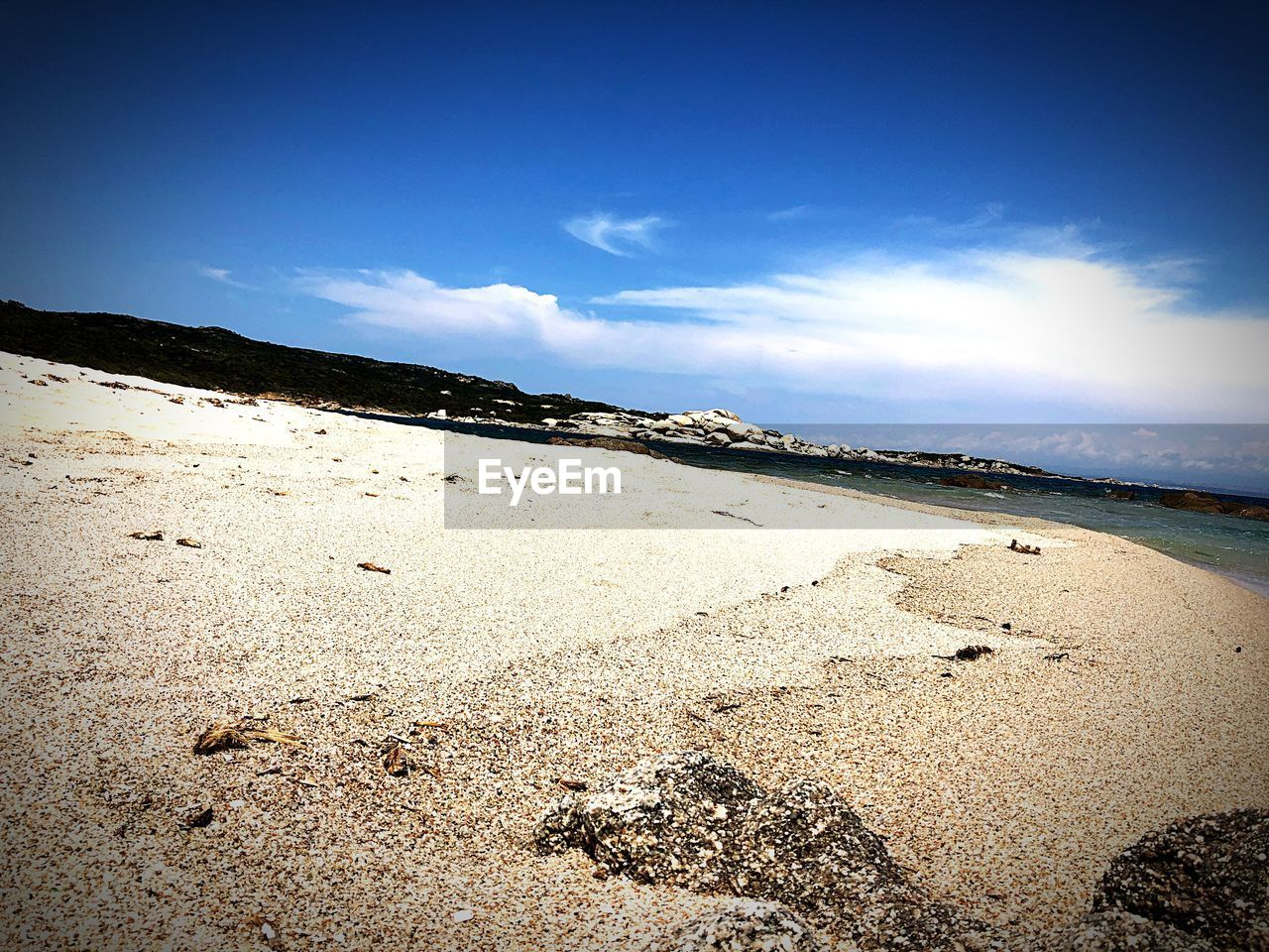sky, land, beach, tranquility, cloud - sky, tranquil scene, beauty in nature, scenics - nature, sand, nature, sea, water, day, no people, non-urban scene, outdoors, blue, sunlight, idyllic