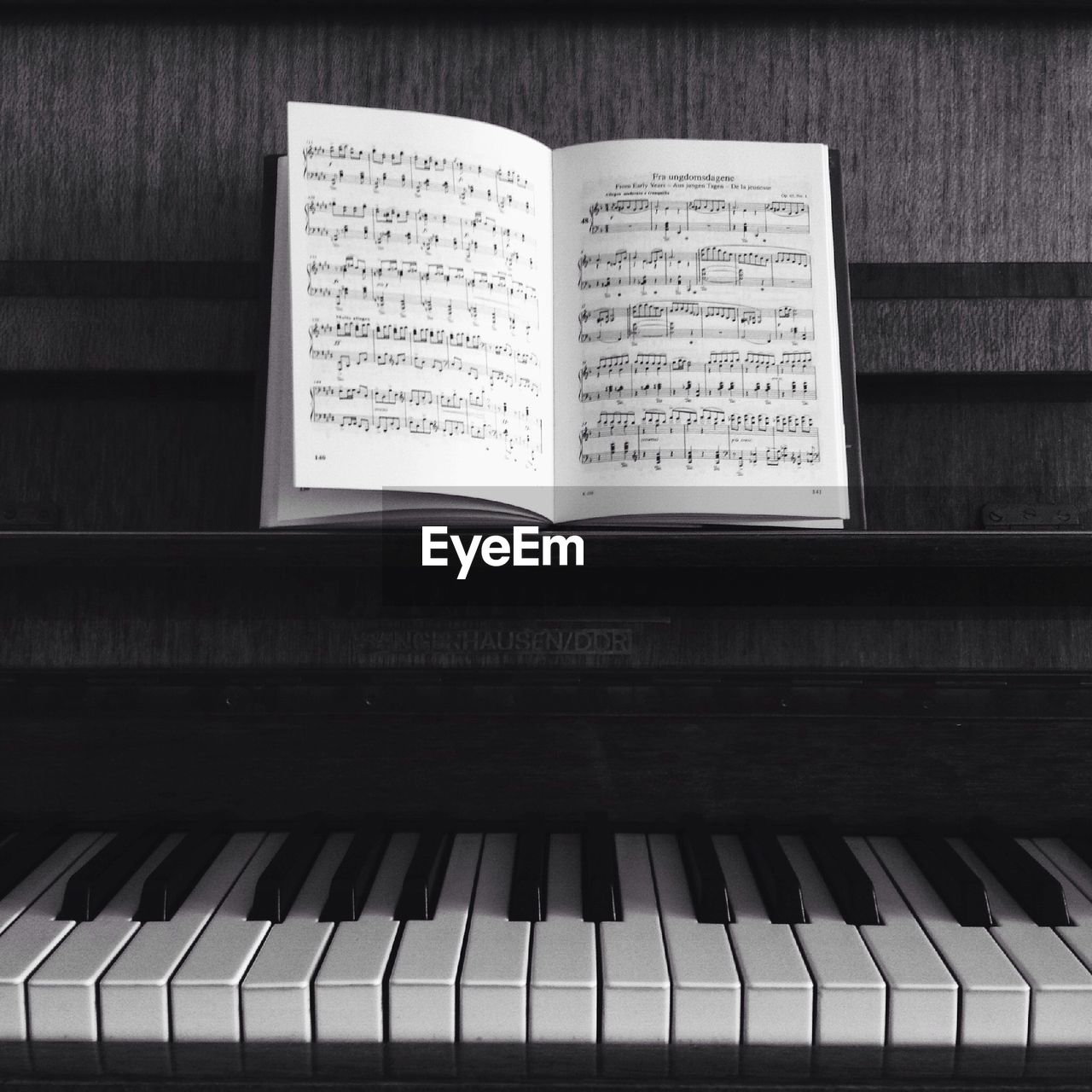 Musical Notes Kept On Piano