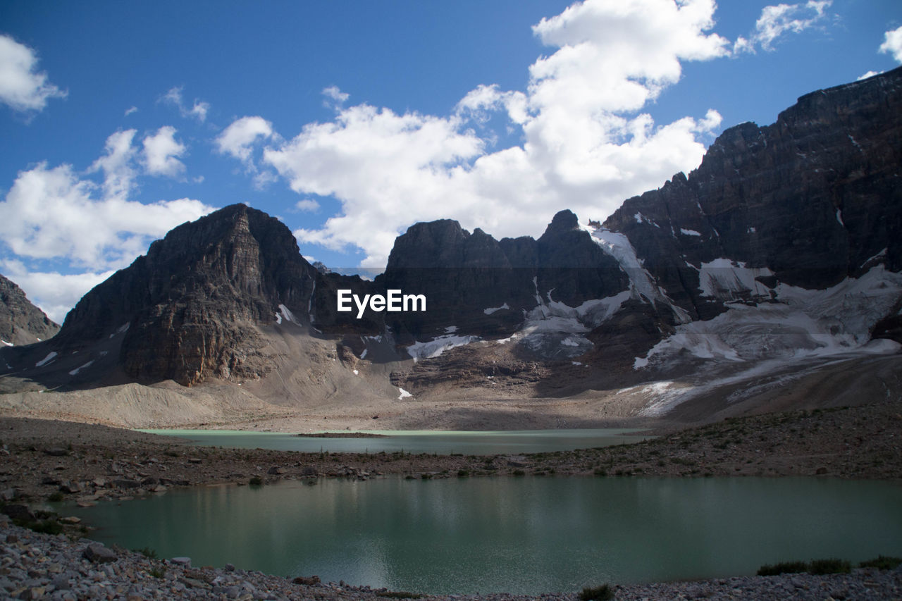 Lake With Mountain In Background