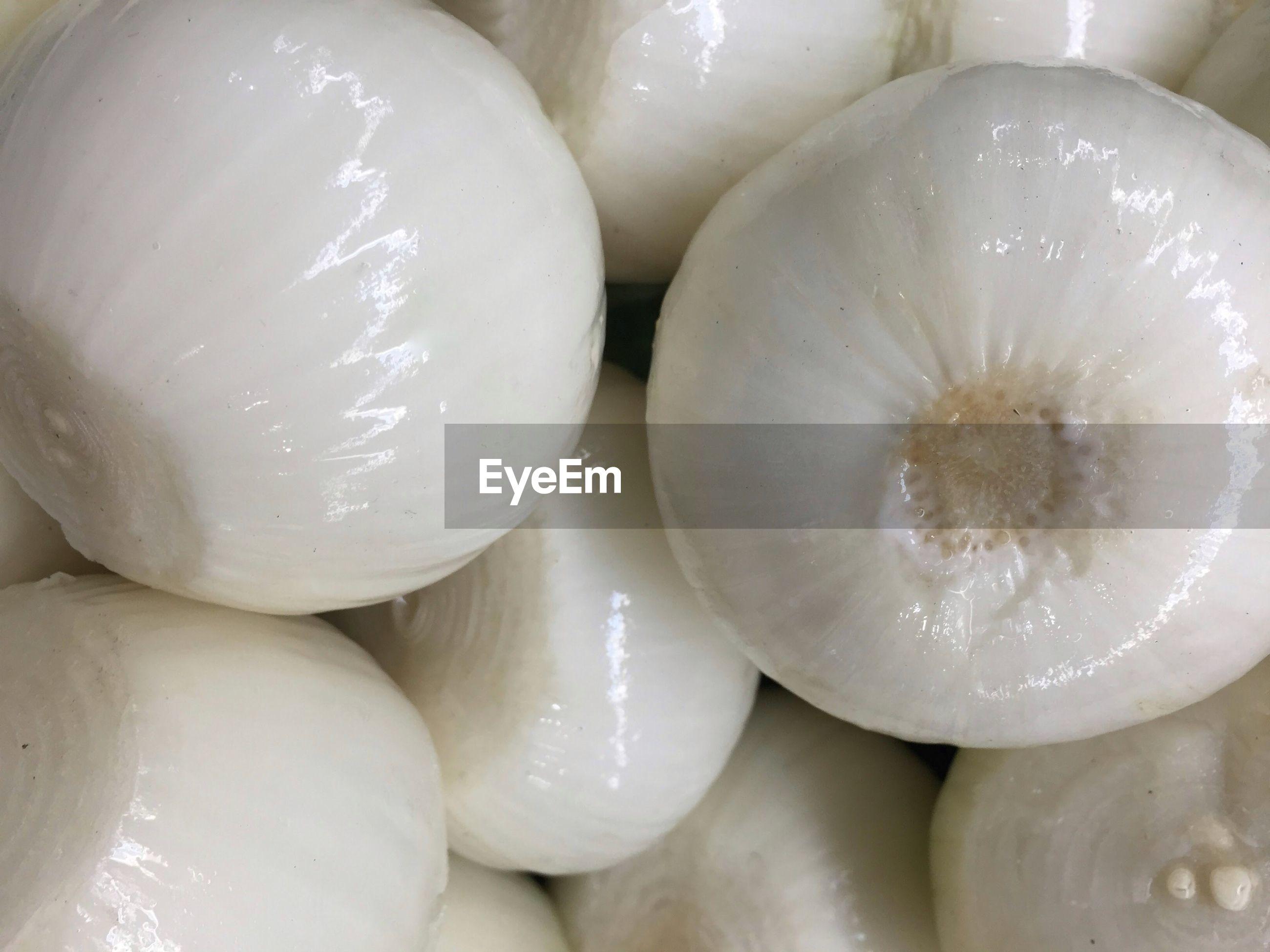 Full frame shot of white onions