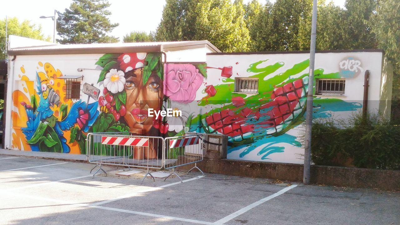 GRAFFITI ON BUILDING WALL