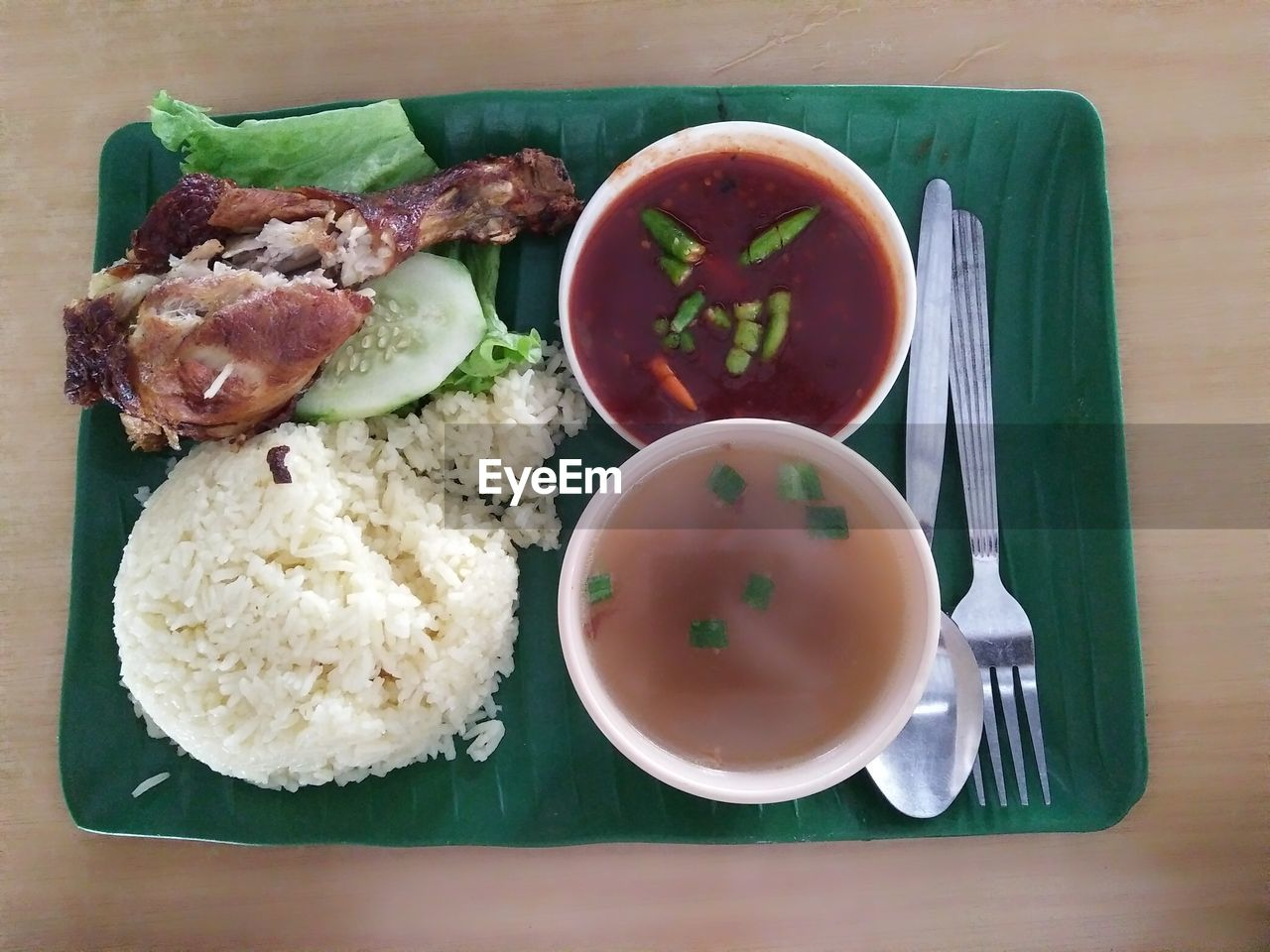food, ready-to-eat, food and drink, plate, bowl, table, freshness, serving size, no people, healthy eating, rice - food staple, directly above, indoors, rice, meat, close-up, day