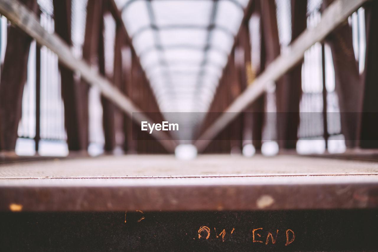 Text On Bridge
