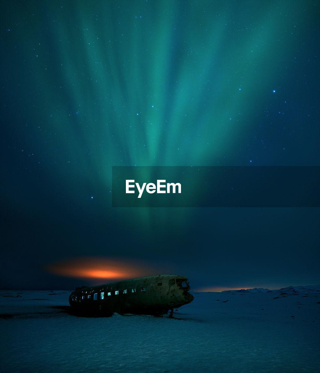 Scenic View Of Aurora Polaris