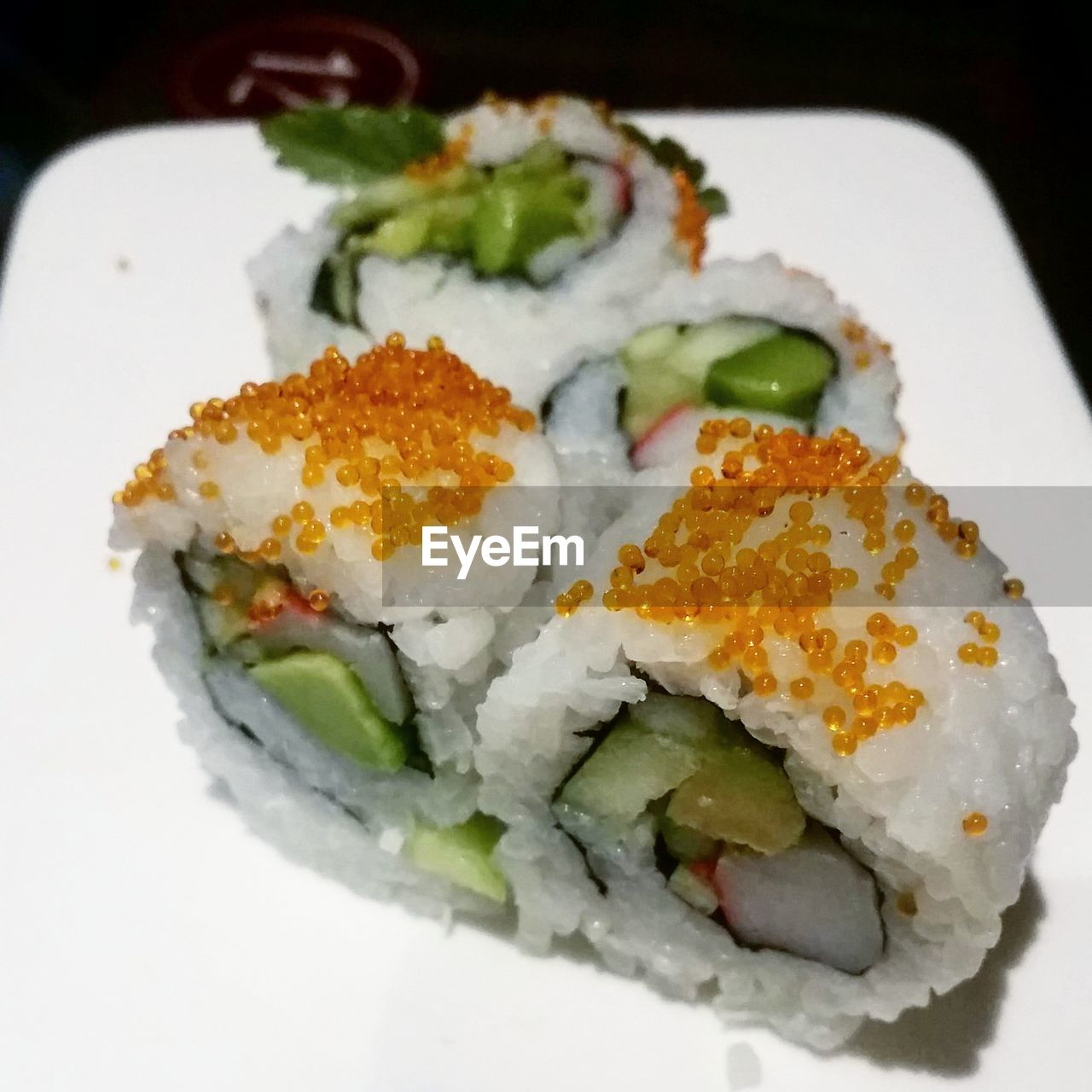 ready-to-eat, food and drink, food, freshness, healthy eating, serving size, high angle view, close-up, cucumber, no people, plate, sushi, indulgence, slice, garnish, indoors, vegetarian food, day