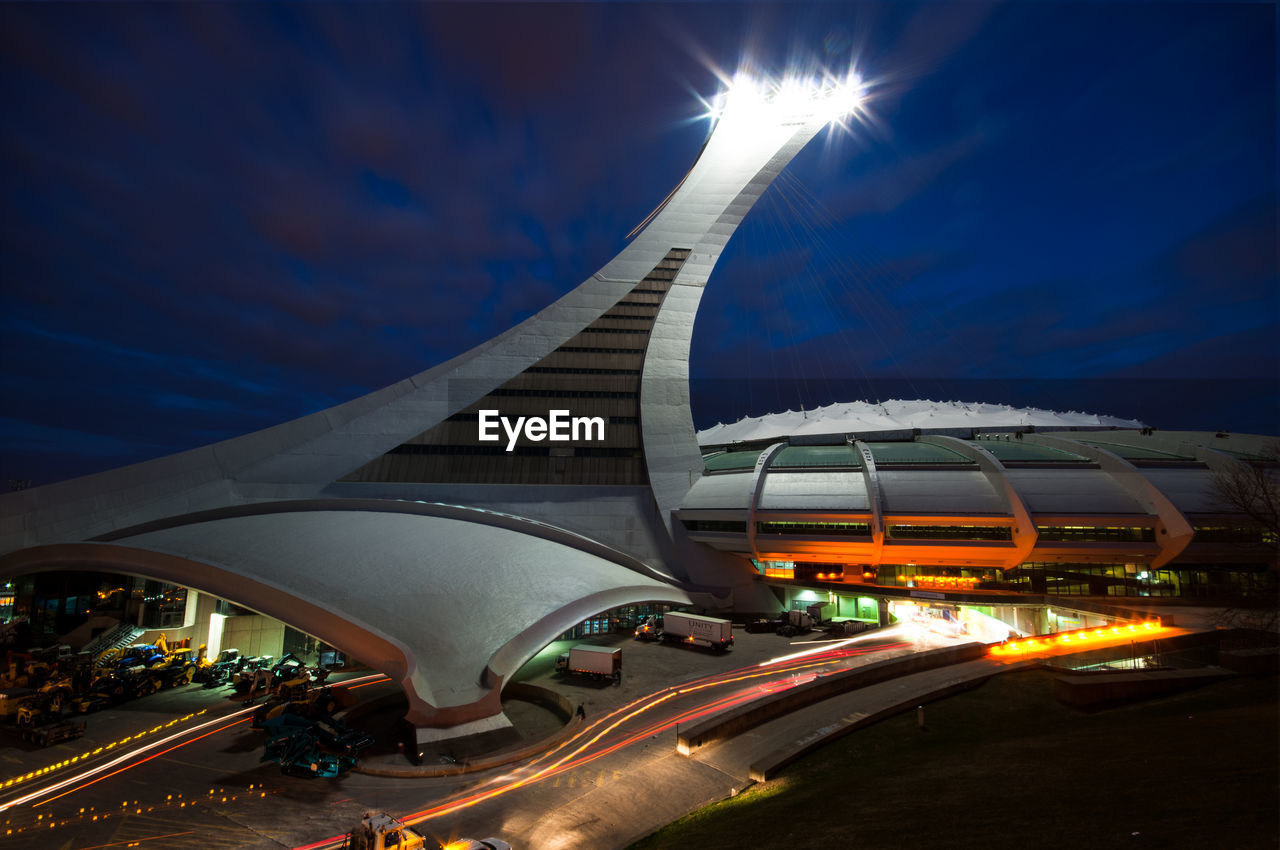 ILLUMINATED MODERN CITYSCAPE