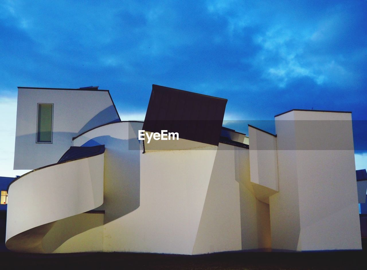 sky, cloud - sky, low angle view, architecture, no people, outdoors, built structure, day, building exterior, modern, close-up