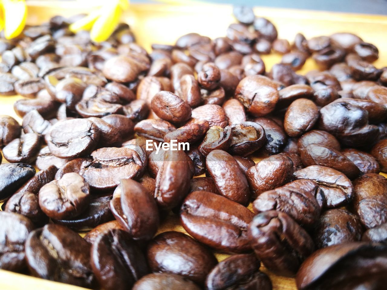 CLOSE-UP OF ROASTED COFFEE