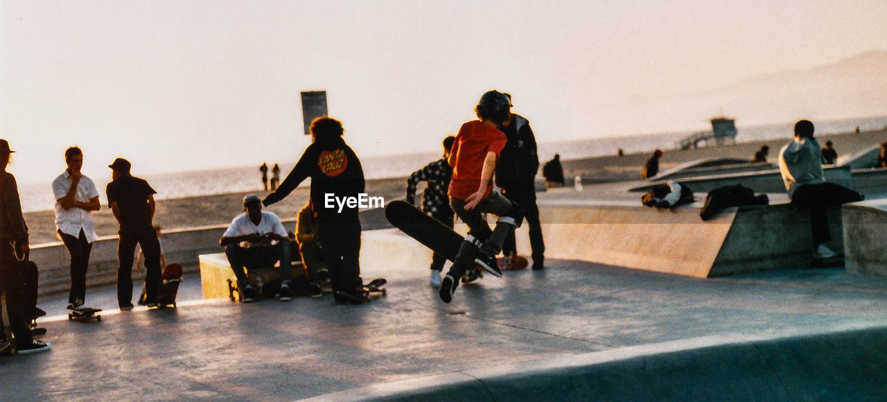 People In Skate Park