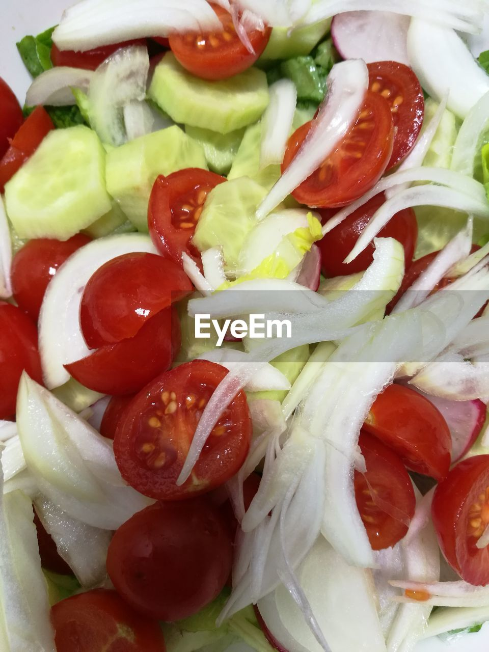 salad, tomato, vegetable, food, food and drink, healthy eating, freshness, slice, no people, indoors, ready-to-eat, close-up, cucumber, red bell pepper, feta cheese, backgrounds, greek food, day