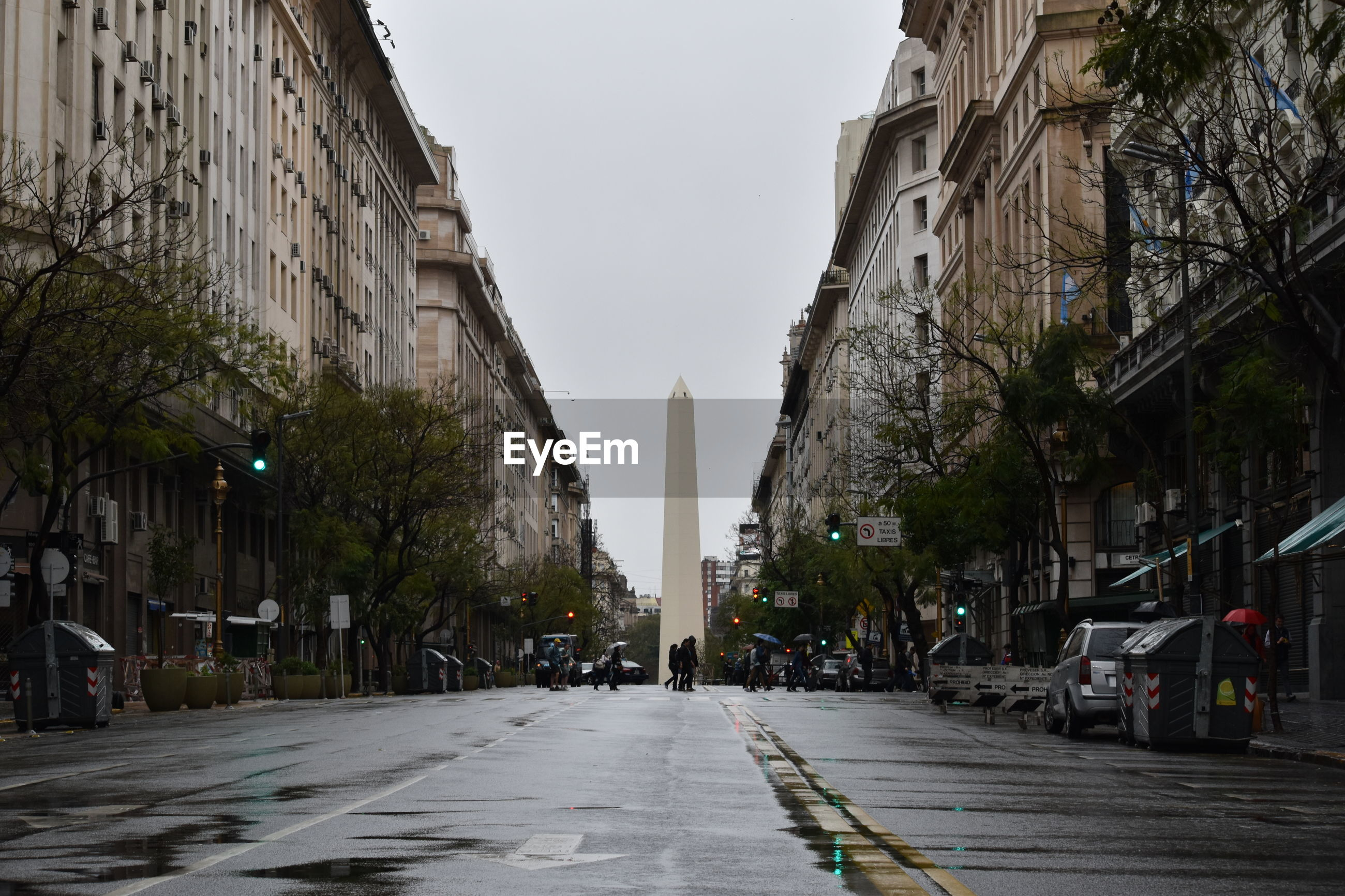 VIEW OF STREET IN FRONT OF BUILDINGS
