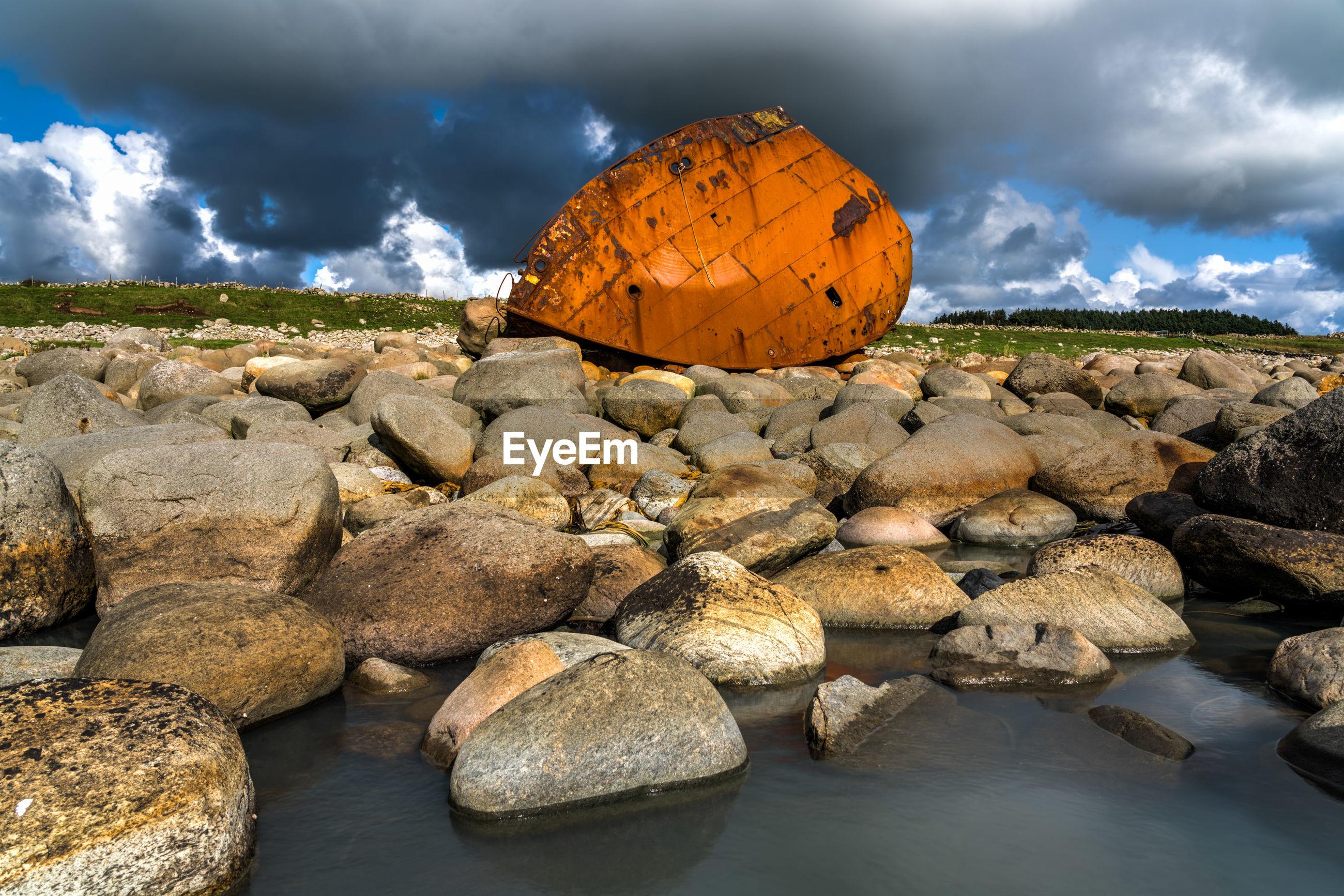 ROCKS ON RIVERBANK