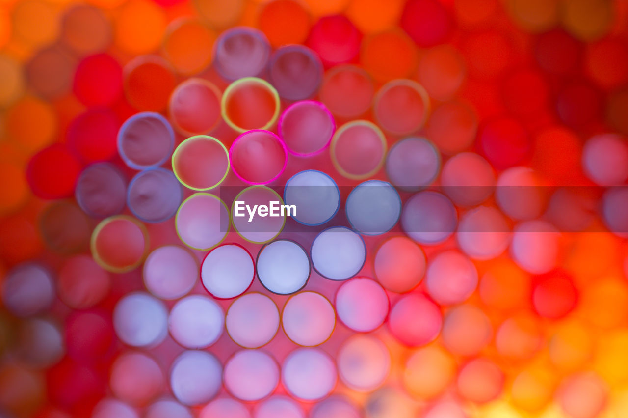 Macro Shot Of Colorful Drinking Straws