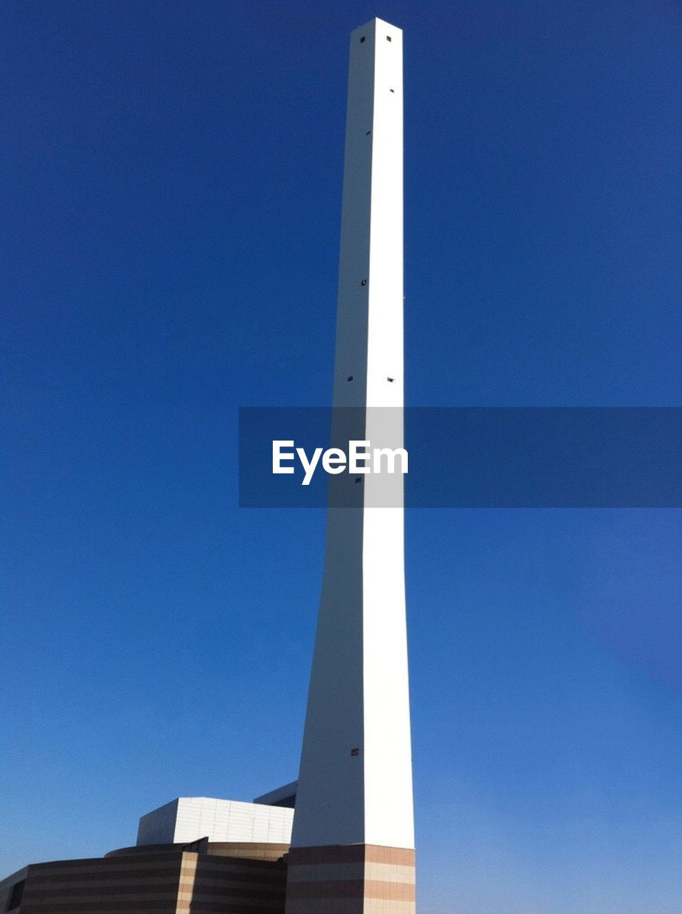 clear sky, day, blue, low angle view, outdoors, no people, built structure, sky