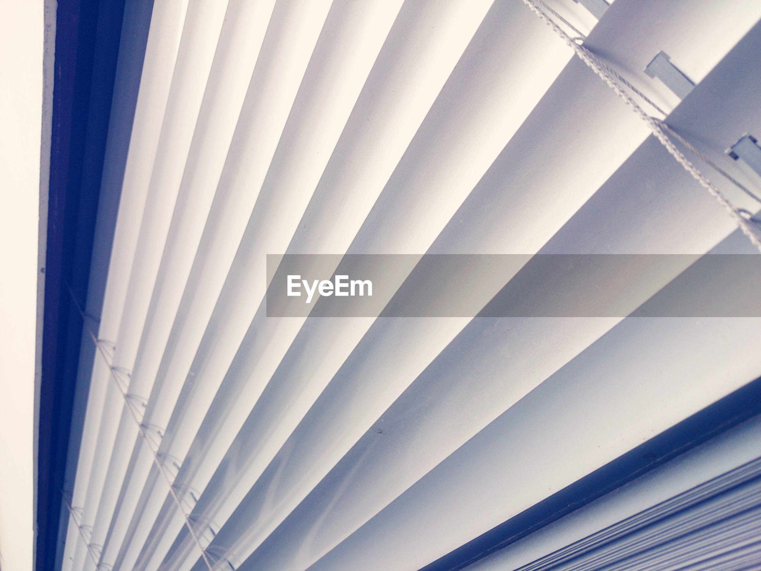 Detail shot of white blinds