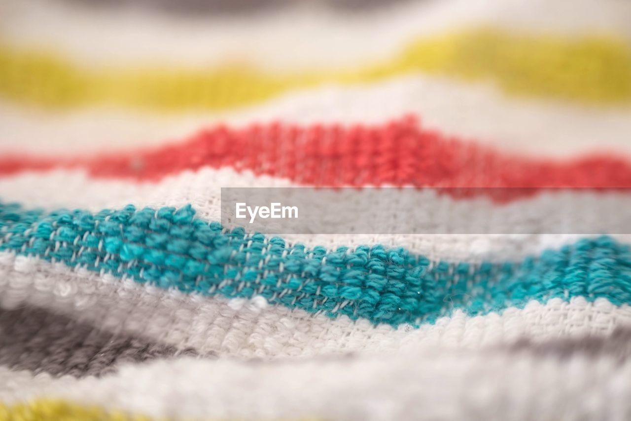 Full frame shot of colorful textile