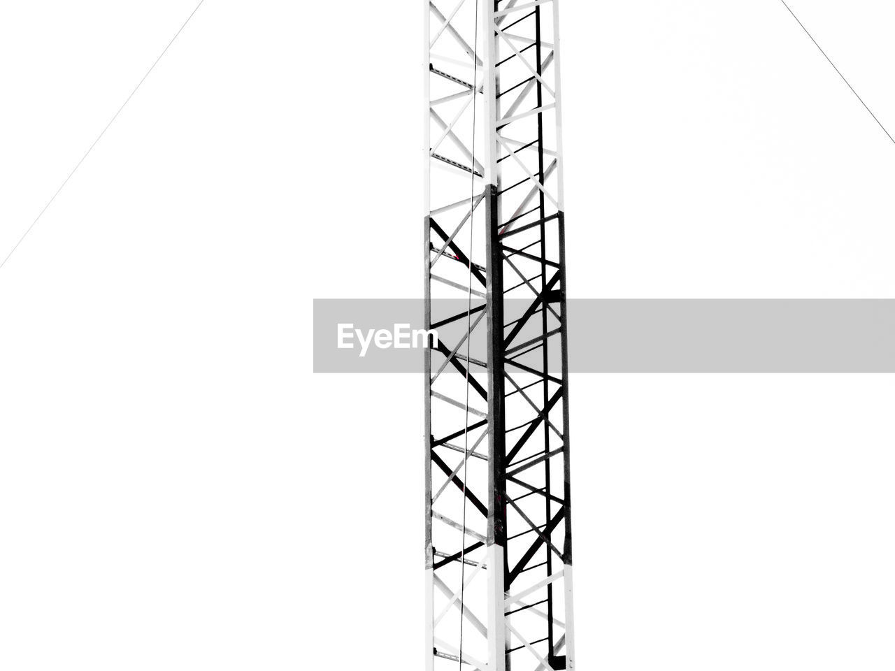 copy space, metal, architecture, no people, built structure, white background, clear sky, day, outdoors