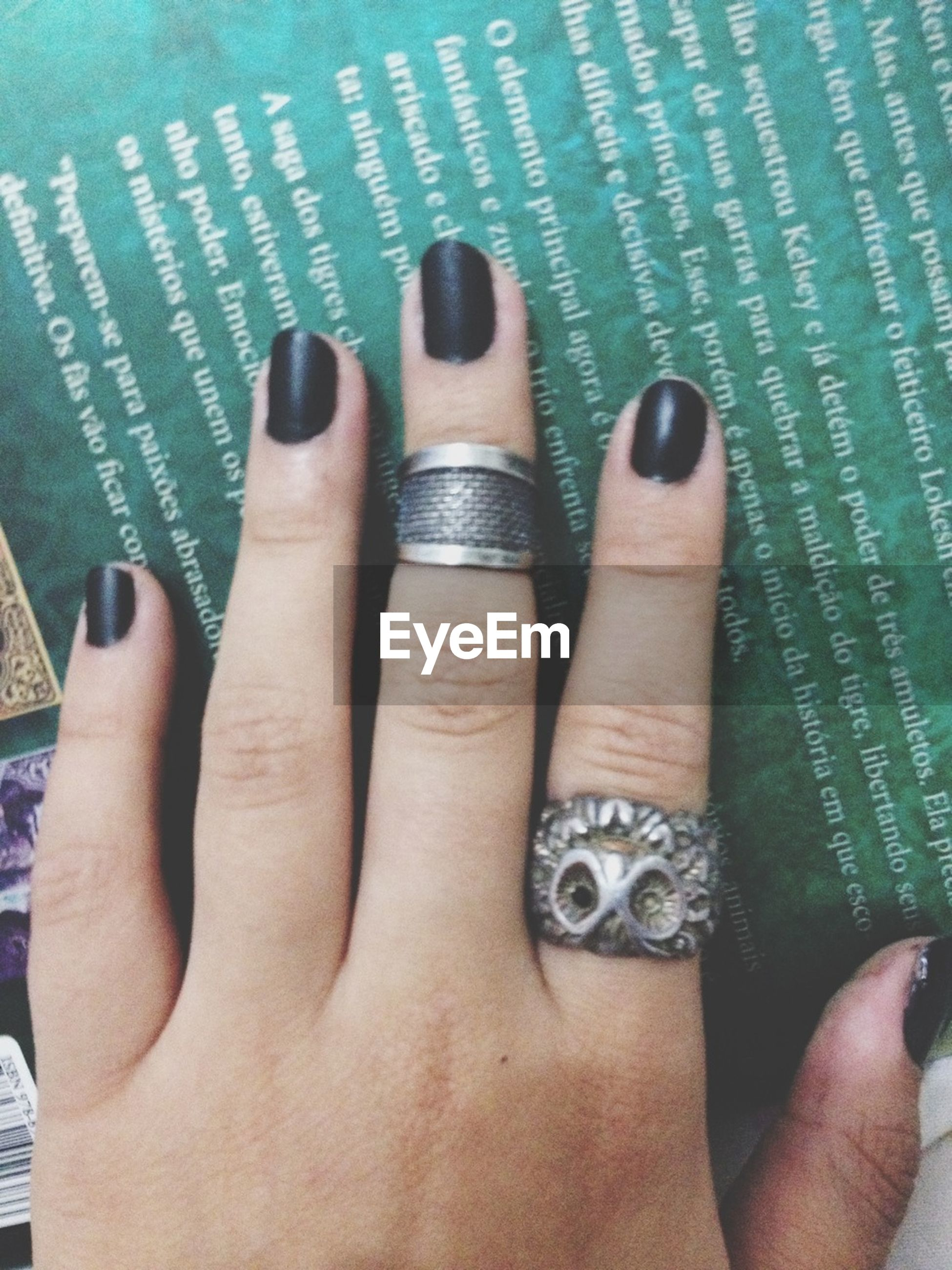 person, part of, human finger, personal perspective, close-up, cropped, indoors, unrecognizable person, high angle view, nail polish, holding, day, lifestyles, ring, leisure activity