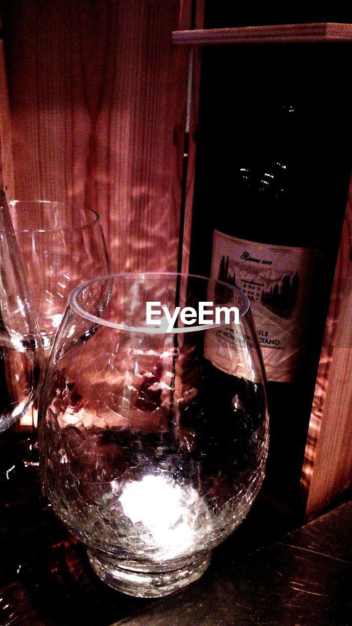 indoors, no people, drink, close-up, wine, night, illuminated, wineglass