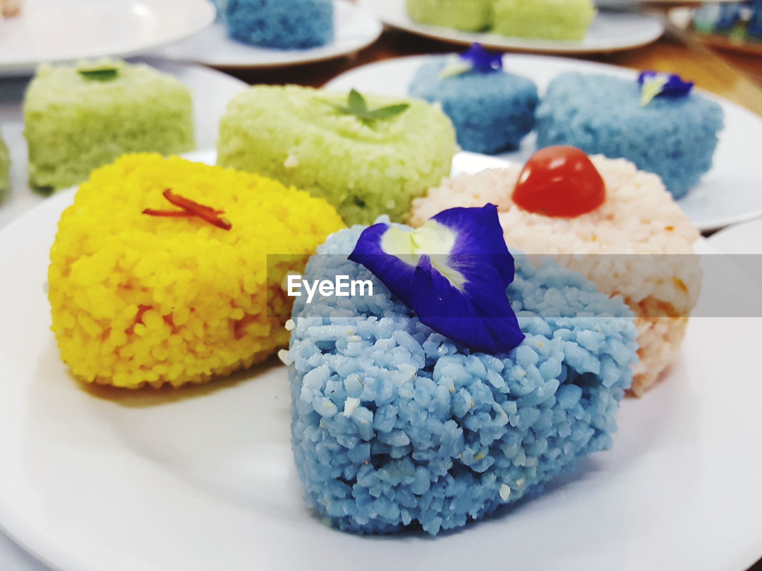 Close-up of colorful meal in plate