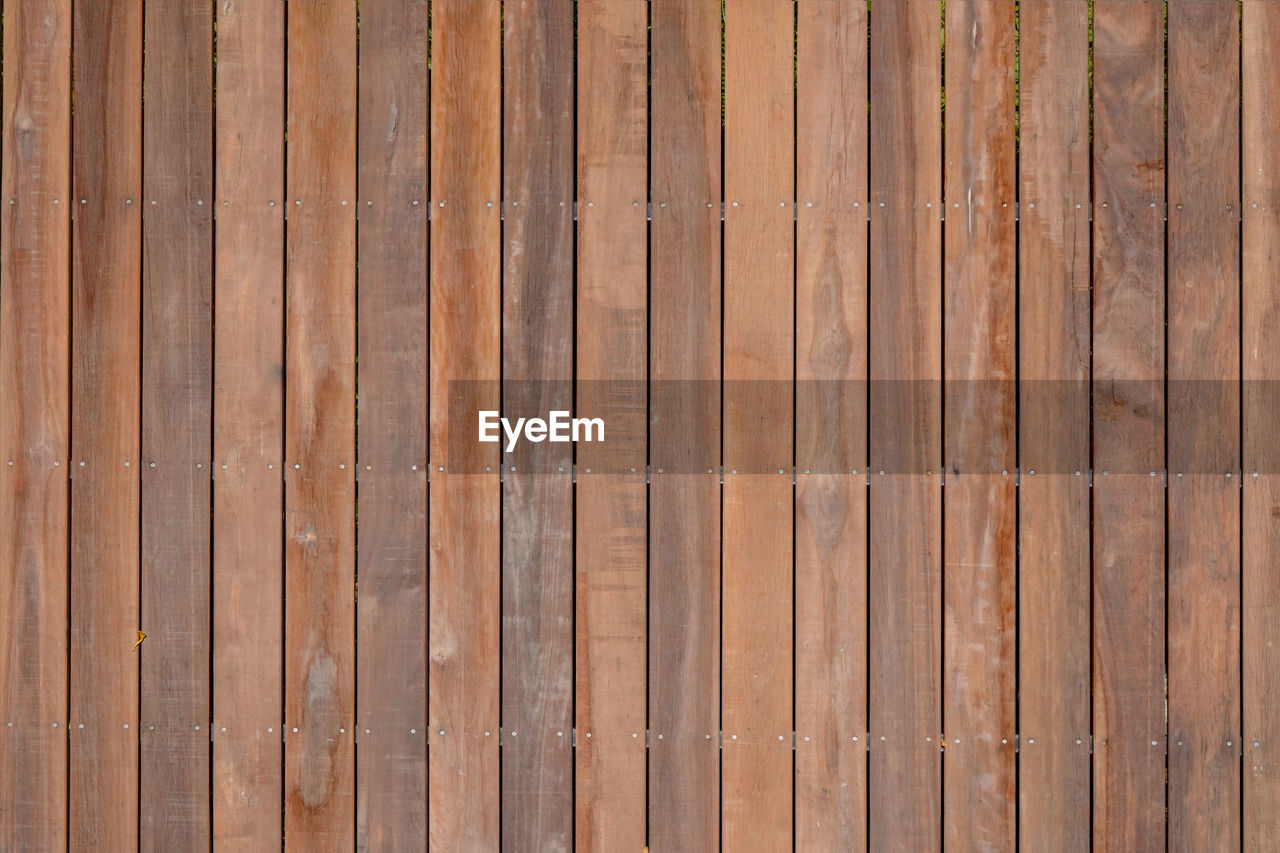 wood - material, backgrounds, full frame, pattern, wood, brown, textured, wood grain, no people, plank, repetition, flooring, day, in a row, built structure, architecture, striped, timber, fence, boundary, outdoors, wood paneling, parquet floor
