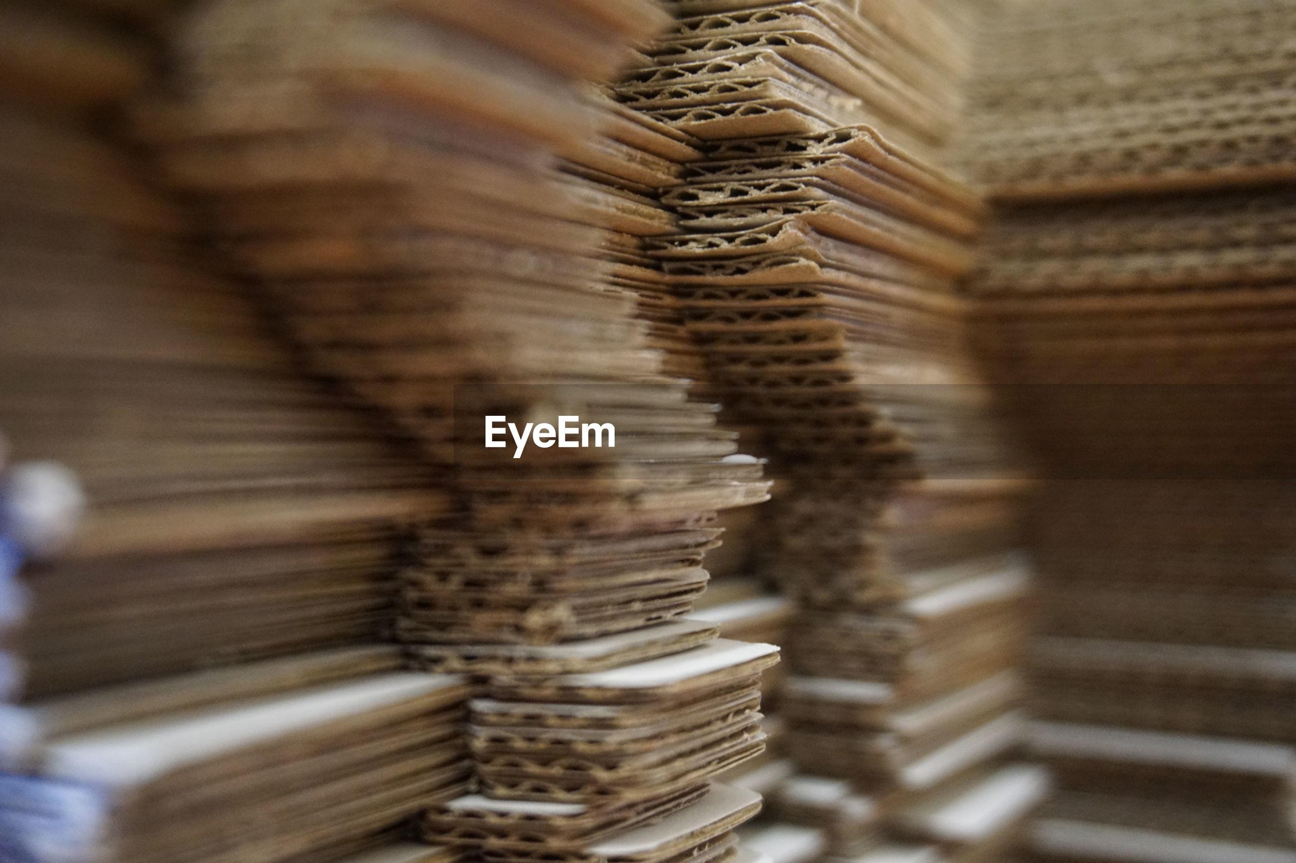 Close-up of cardboard