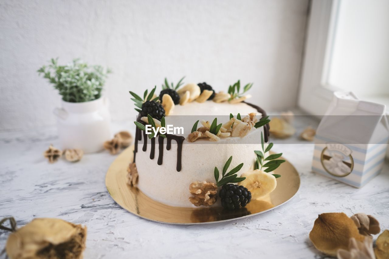 indoors, food, food and drink, freshness, still life, table, text, no people, western script, plant, close-up, celebration, selective focus, healthy eating, communication, holiday, baked, indulgence, christmas, sweet food, herb, temptation