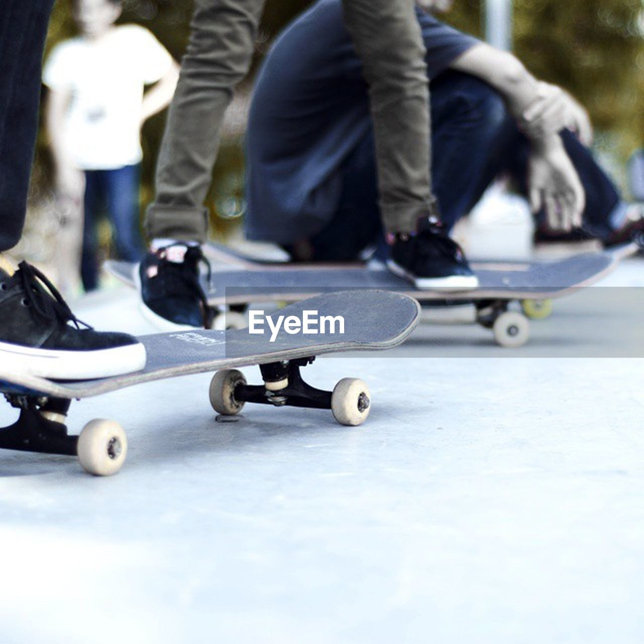 low section, human leg, childhood, human body part, leisure activity, skateboard, real people, playing, balance, day, boys, sport, fun, lifestyles, outdoors, child, people, adult